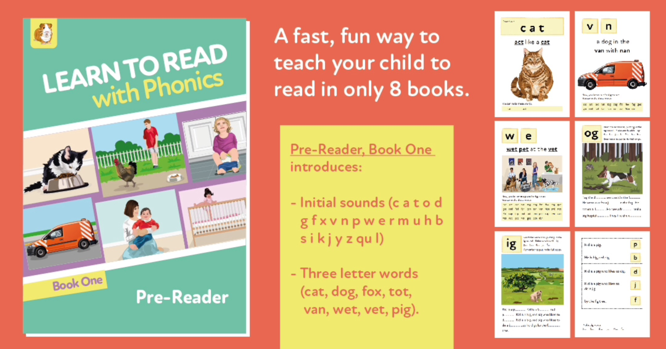 Learn To Read Rapidly With Phonics: Pre Reader Book 1: Digital Download