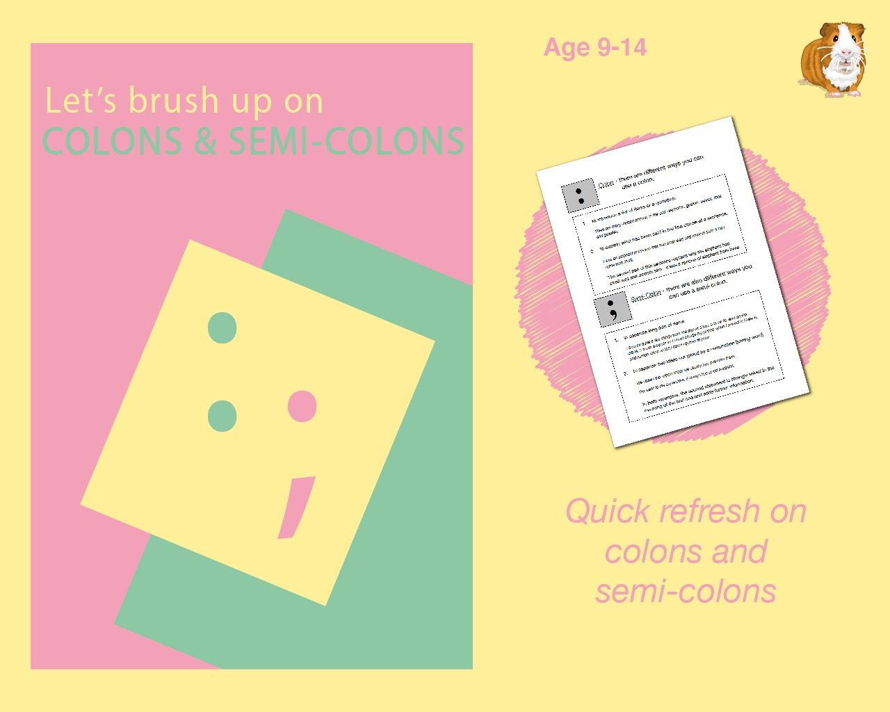 Using Colons And Semi Colons (9-14 years)