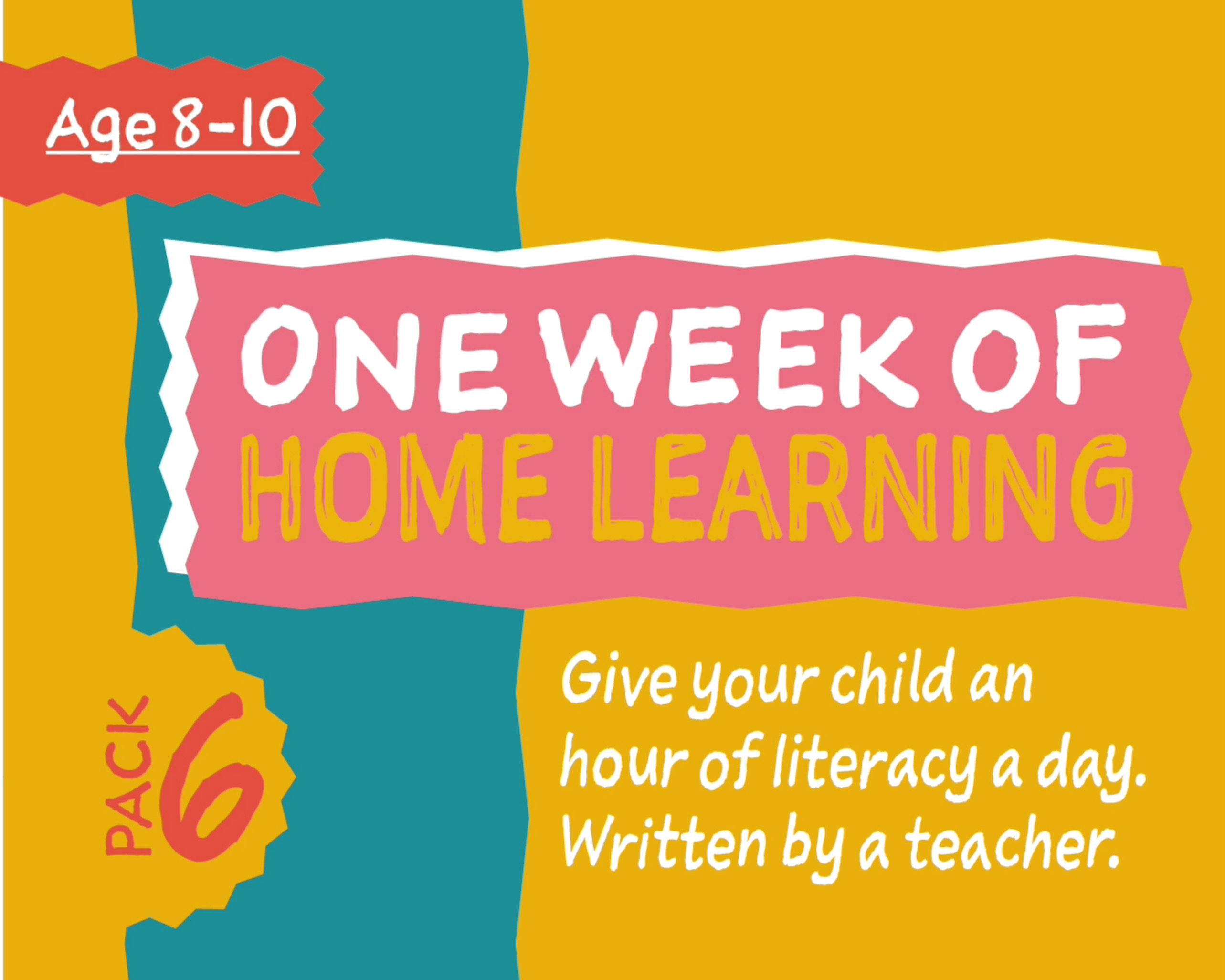 1 Week Literacy Distance Learning: PACK SIX (age 8-10) Grades 3-6