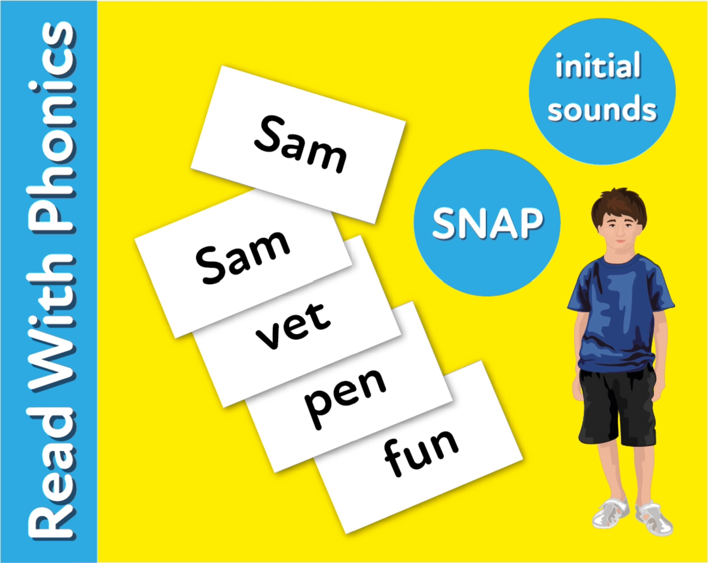 Words To Play Snap: Fun Ways To Practise 3 Letter Phonic Words (3 +)