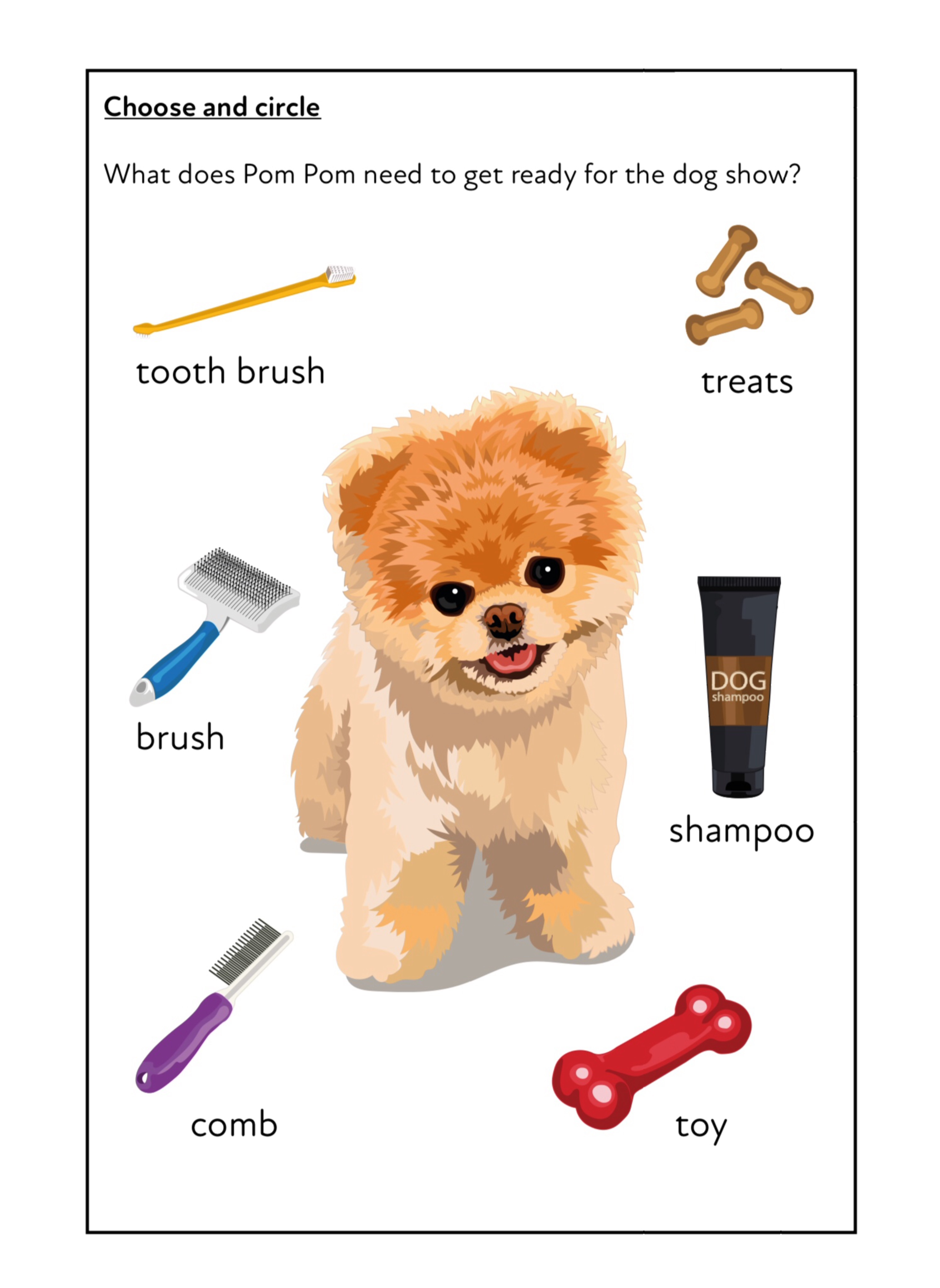 'Pom Pom At The Dog Show' A Fun Writing And Drawing Activity (6 years +)