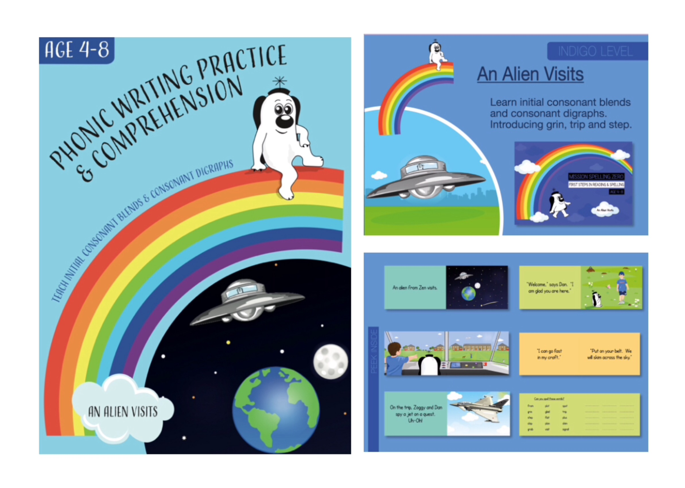 Initial Consonant Blends & Consonant Digraphs (An Alien Visits)