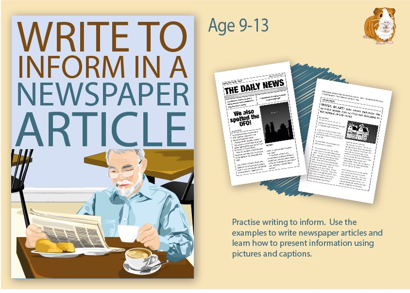 Practise Writing To Inform In A Newspaper Article (9-14 years)