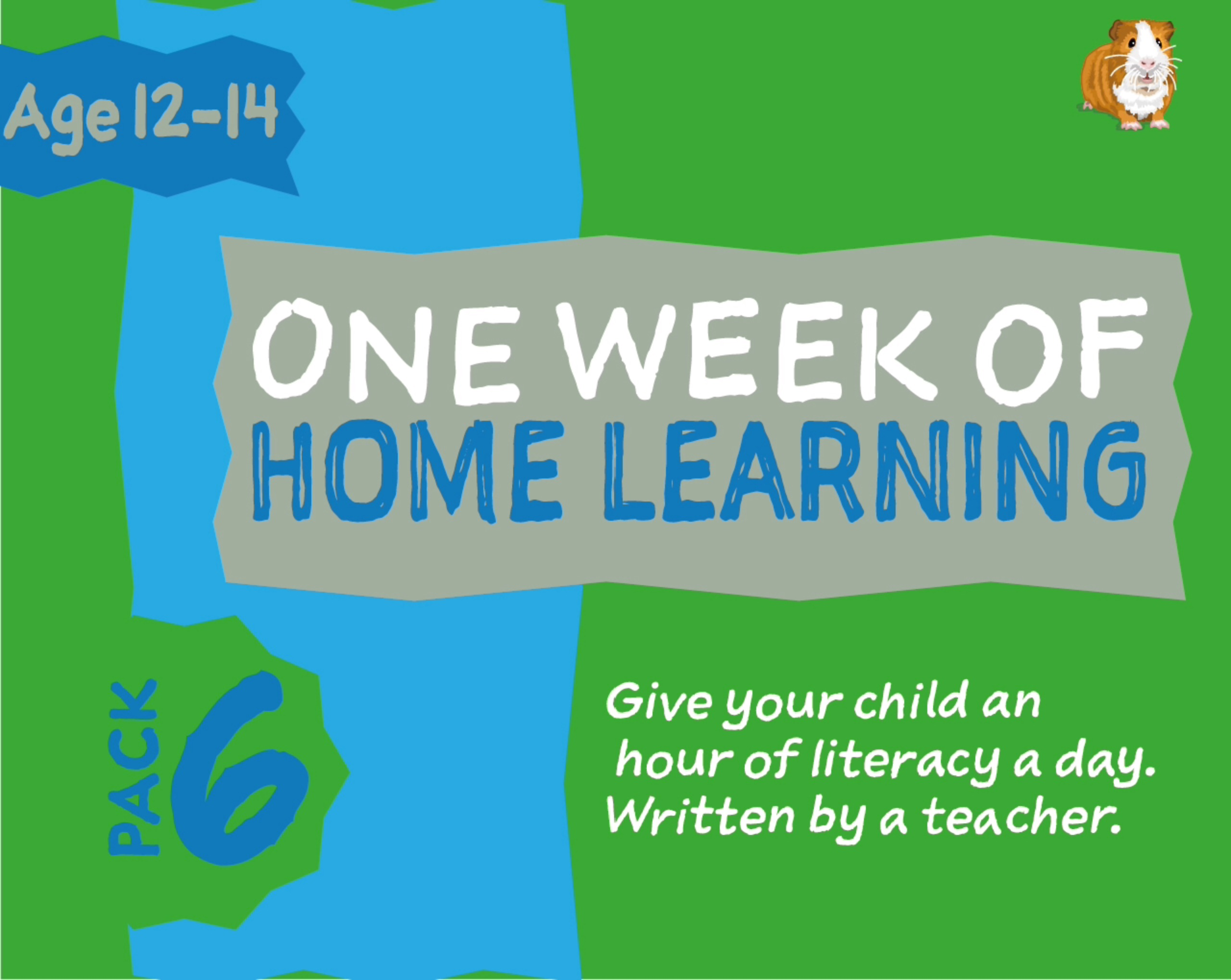 1 WEEK Literacy Distance Learning: Pack SIX (age 12-14 years) Grades 6-8