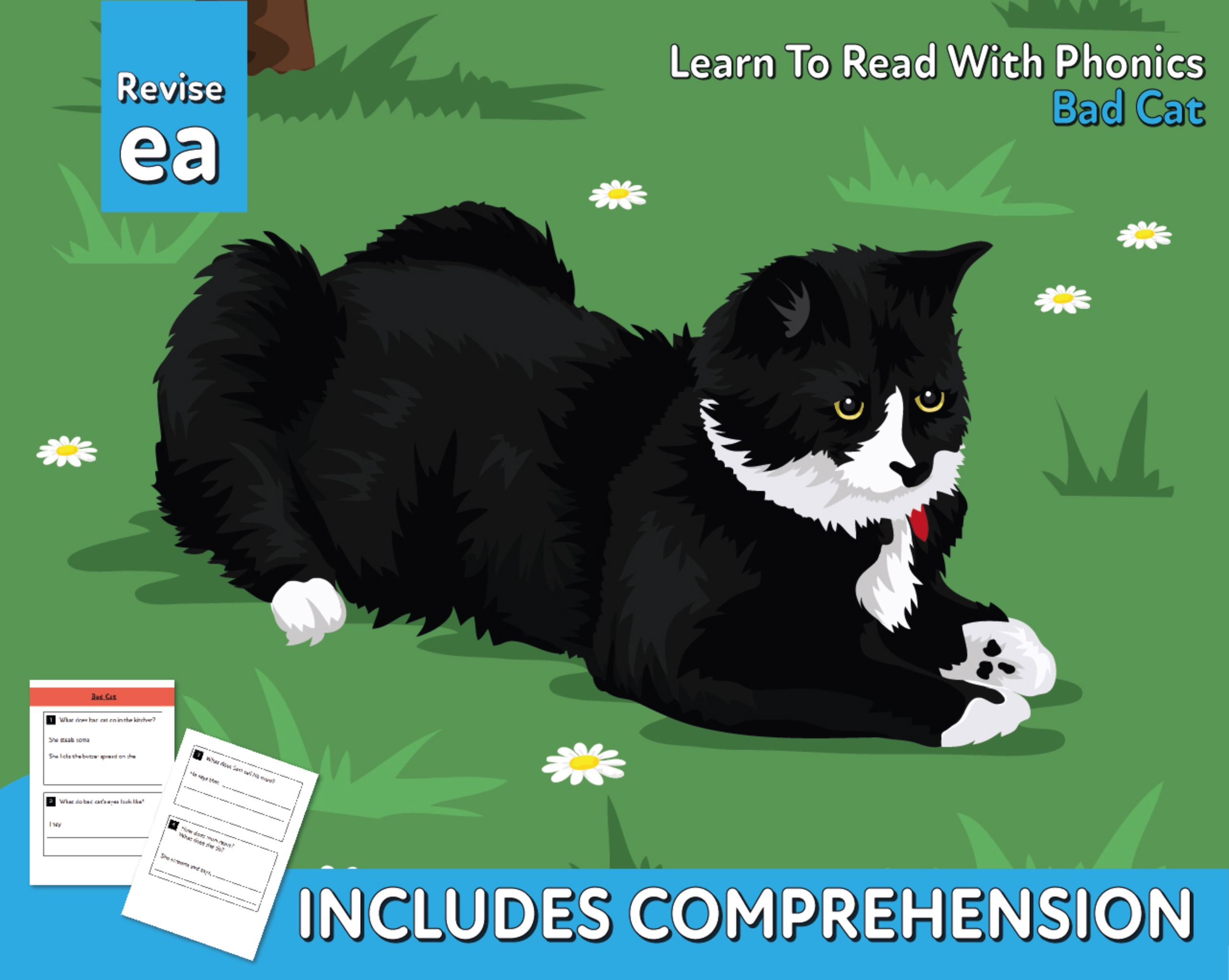 Reading Comprehension 'Bad Cat' (4-8 years)