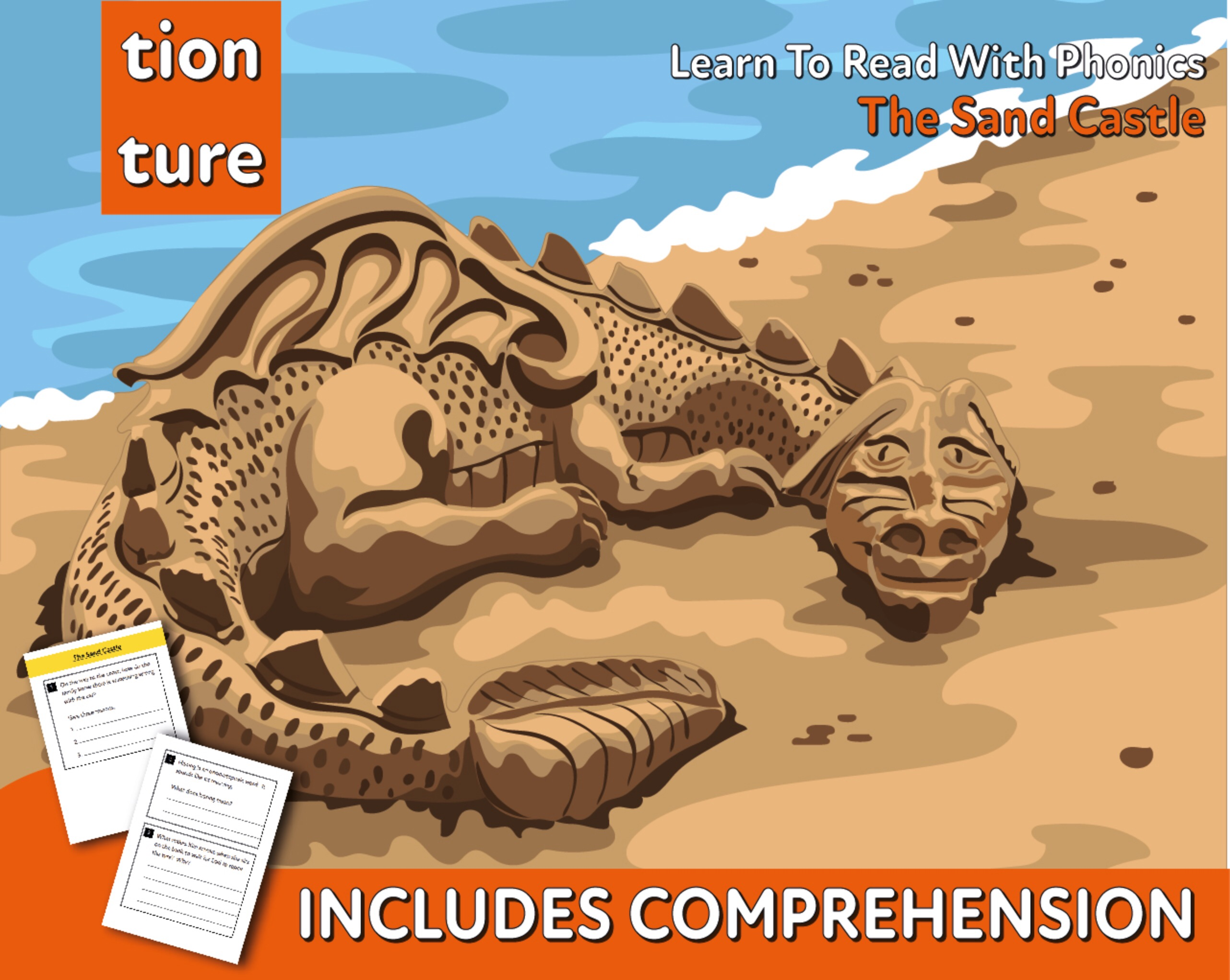 Reading Comprehension 'The Sand Castle' (4-8 years)