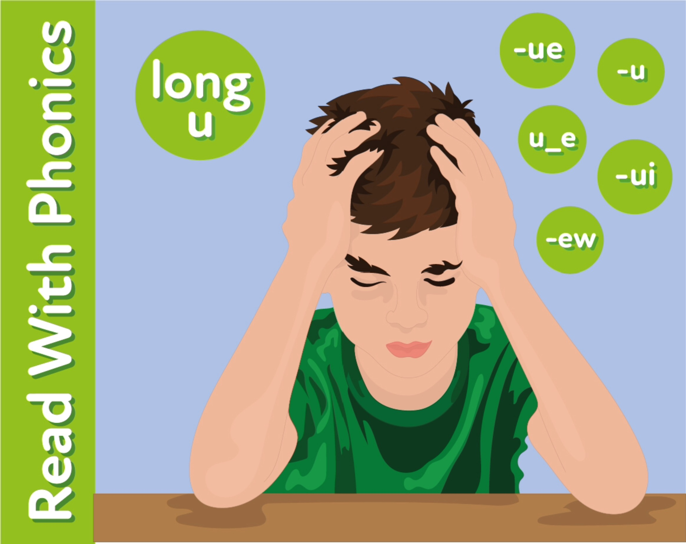 The Day Before School: Learn The Phonic Sound 'ue'
