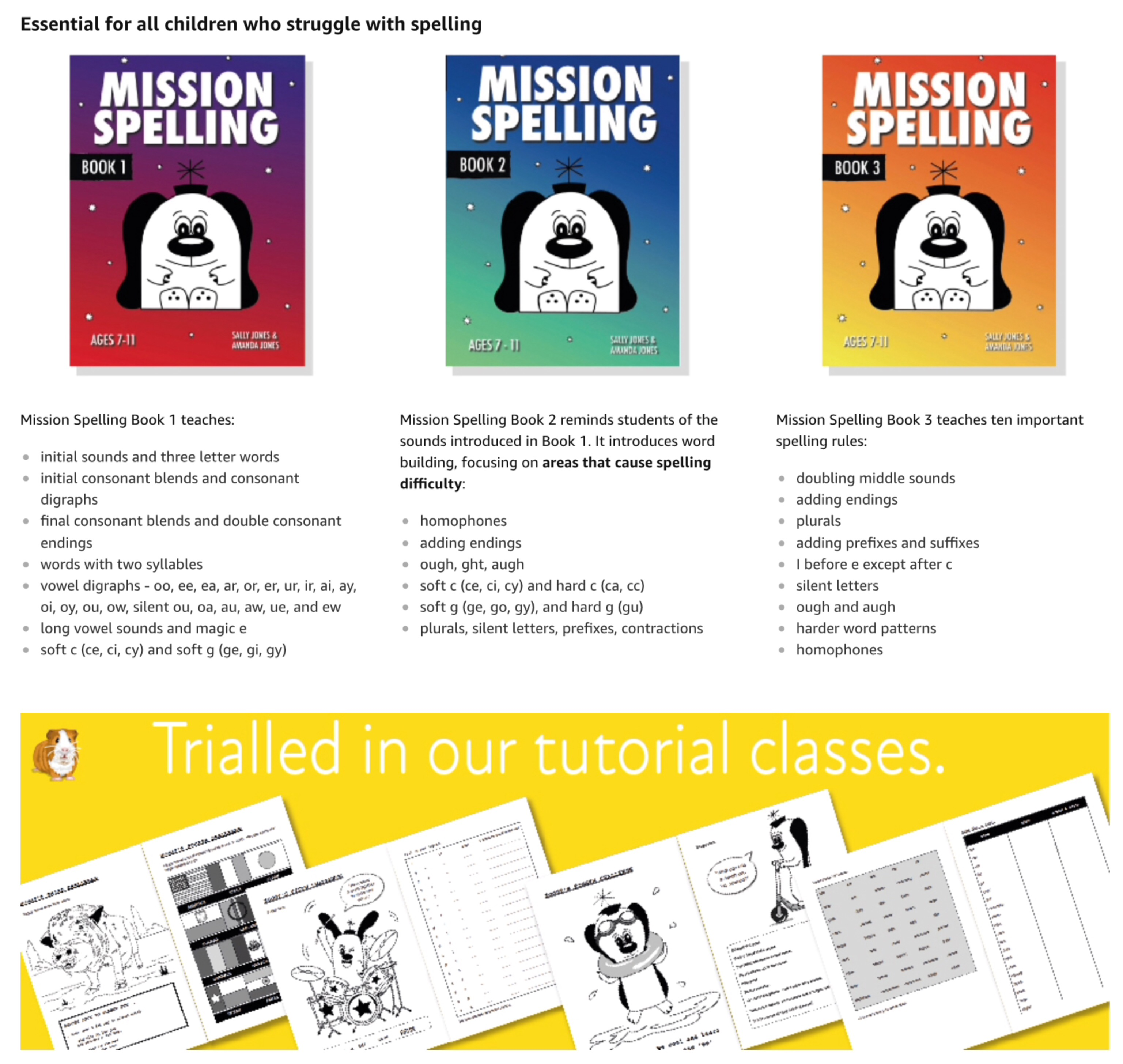 Mission Spelling Book 2: A Crash Course In Spelling With Phonics (7-11 years) Digital Download