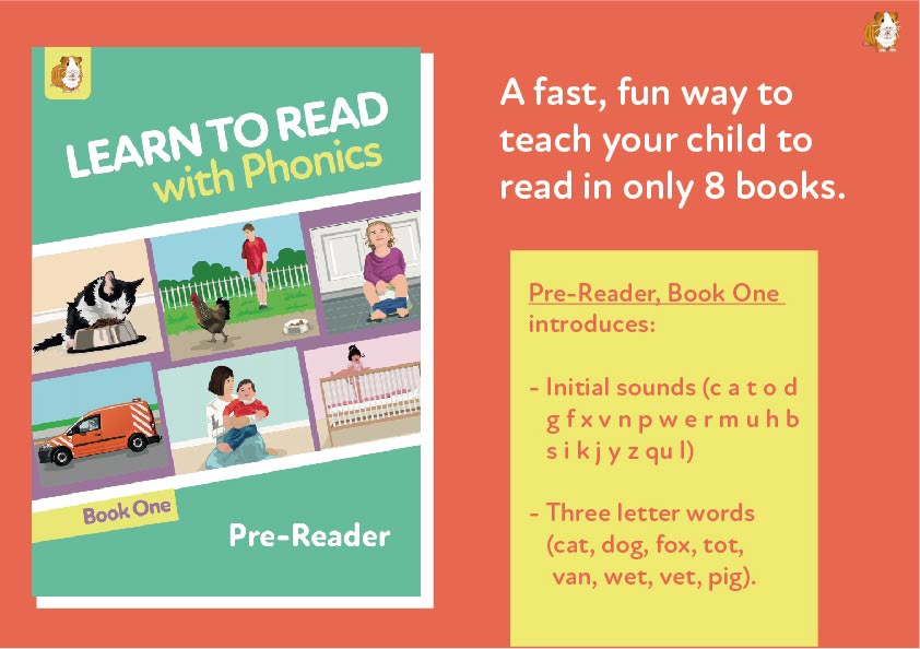 1. Learn To Read With Phonics | Pre Reader Book 1 | Digital Download