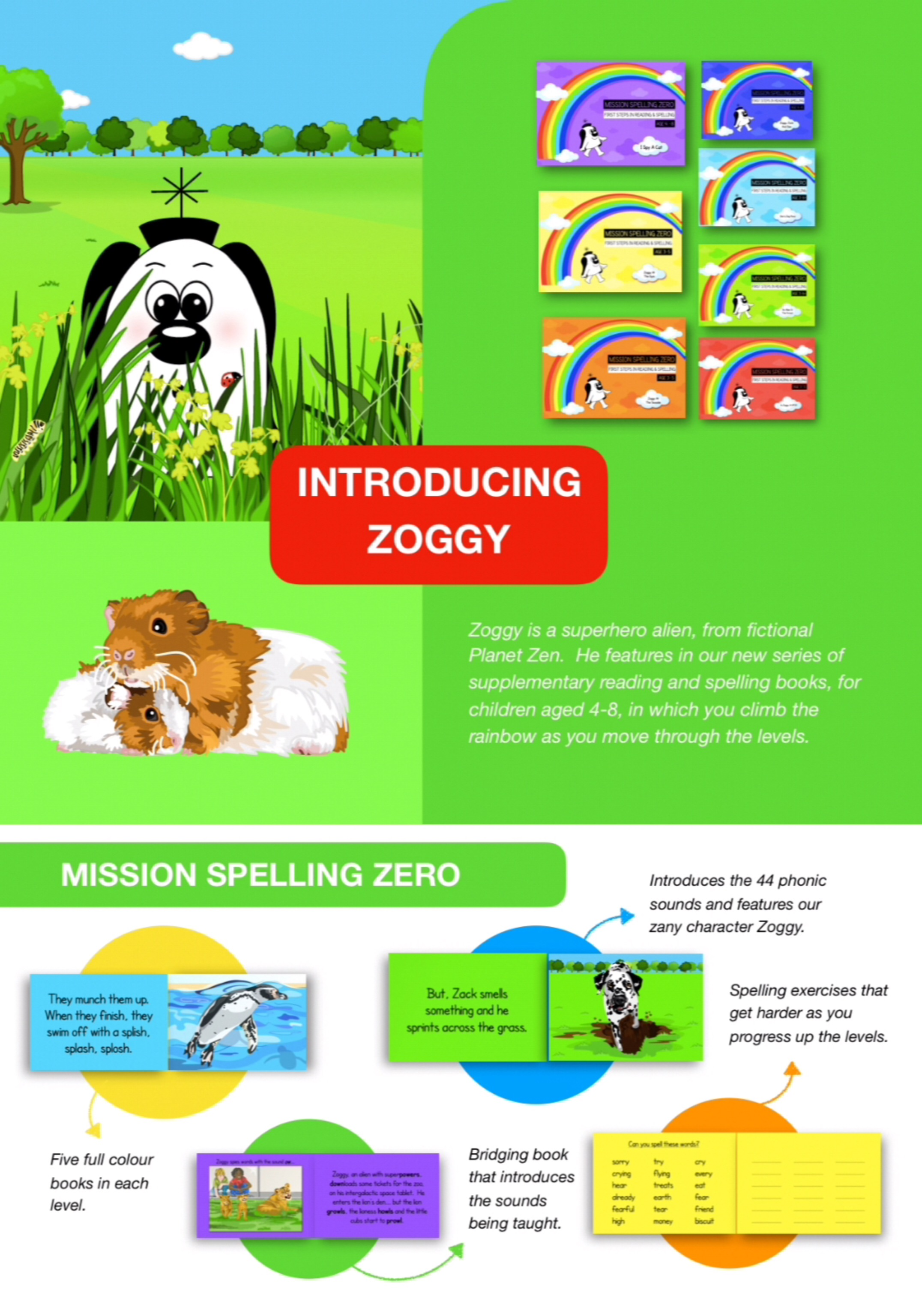 Learn Silent Letters, Suffixes And Prefixes (Zoggy Is A School Teacher) Pack 2