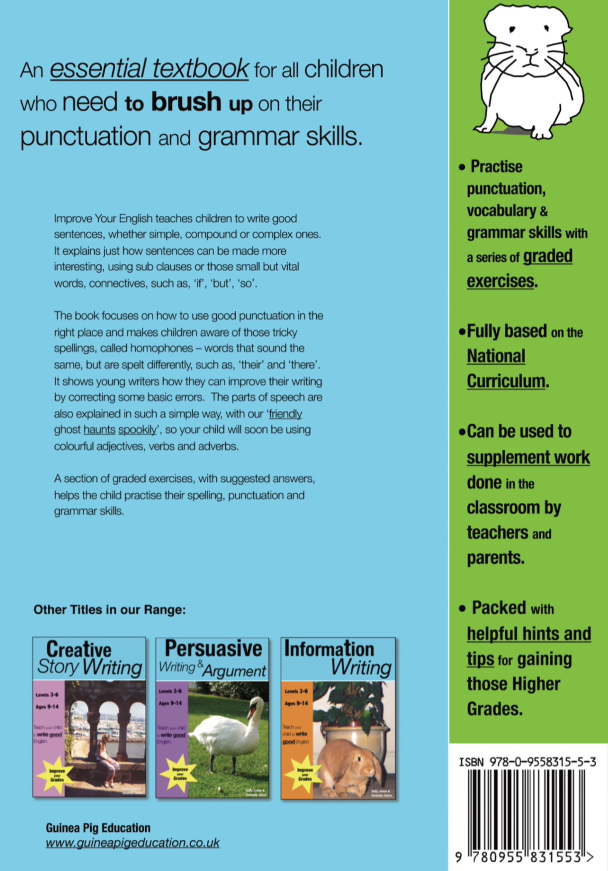 Improve Your English (ages 8-14 years) Teach Your Child Good Punctuation & Grammar Digital Download