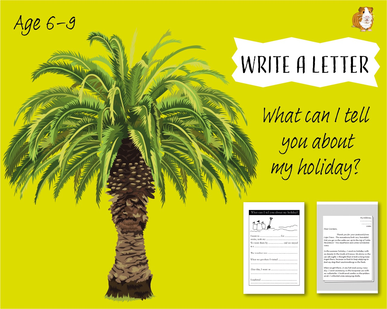 Write A Letter: What Can I Tell You About My Holiday? (6-9 years)