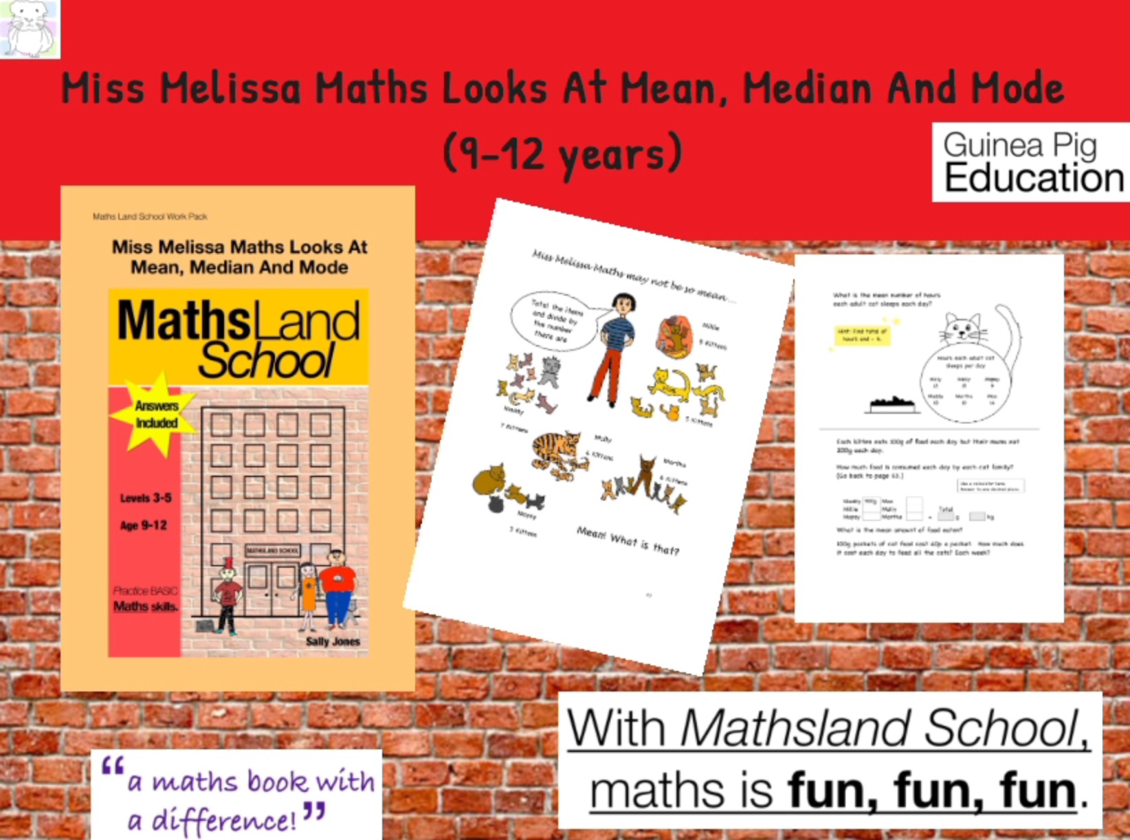 Miss Melissa Maths Looks At Mean, Median And Mode (9-12 years)