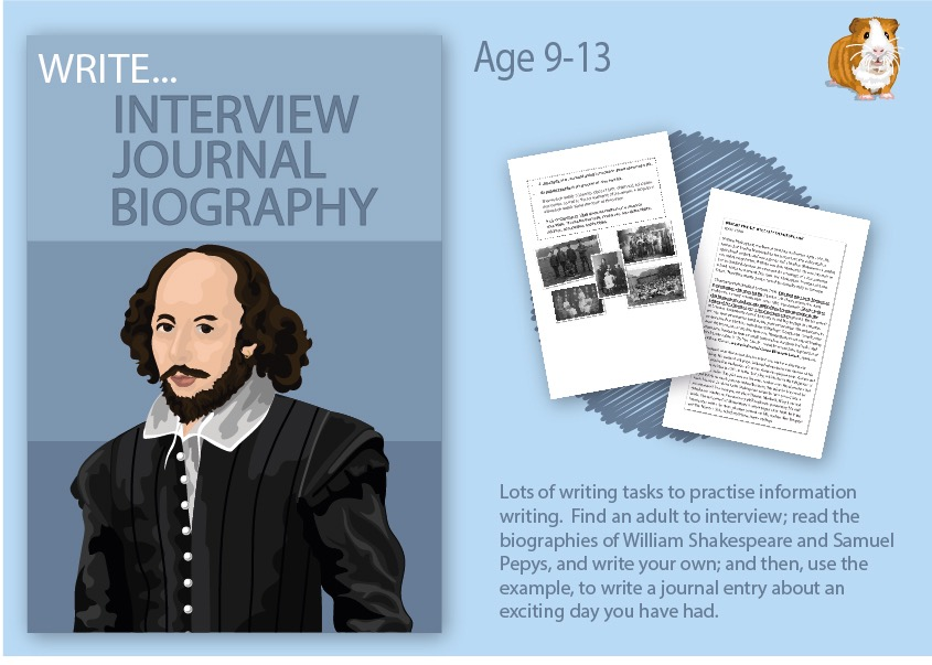 Practise Writing An Interview And A Biography (9-14 years)