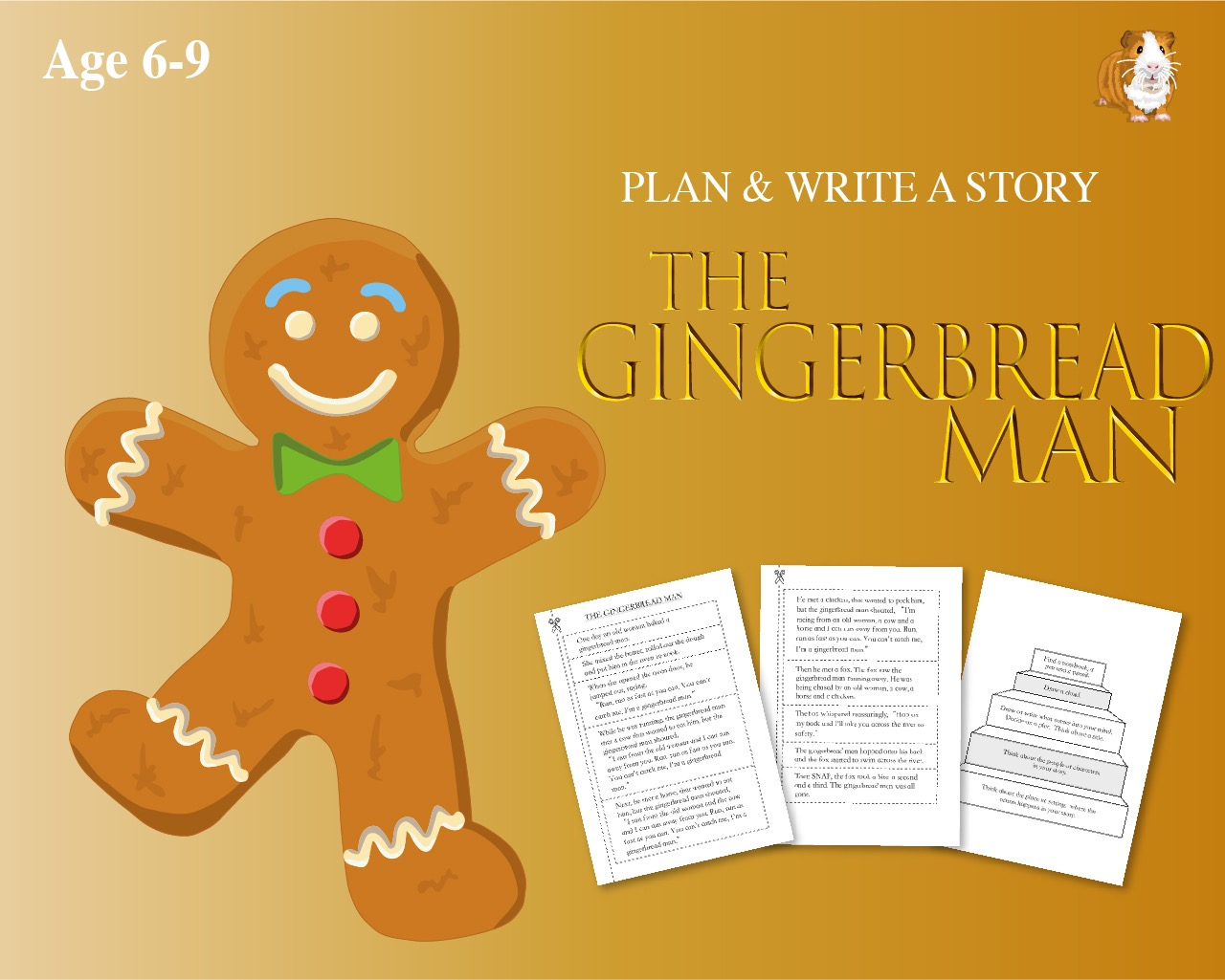 Cut Out And Write The Story Of 'The Gingerbread Man' (6-9 years)