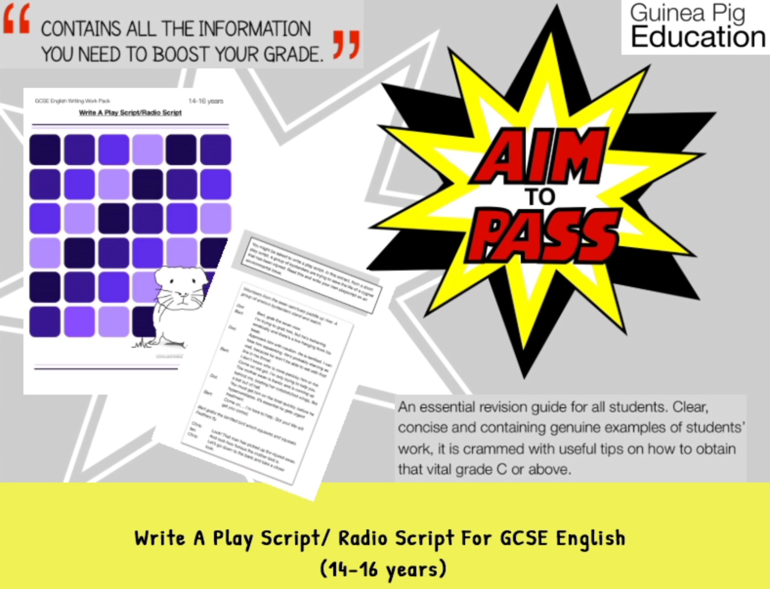 Write A Play Script/ Radio Script (Improve Your Grades At GCSE) (14-16 years)