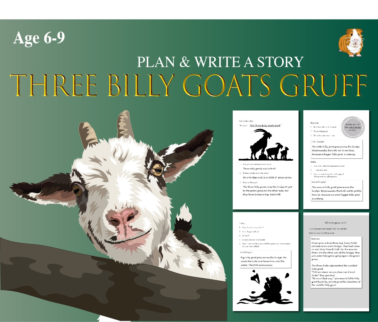 Plan And Write The Story Of The Three Billy Goats Gruff  (6-9 years)