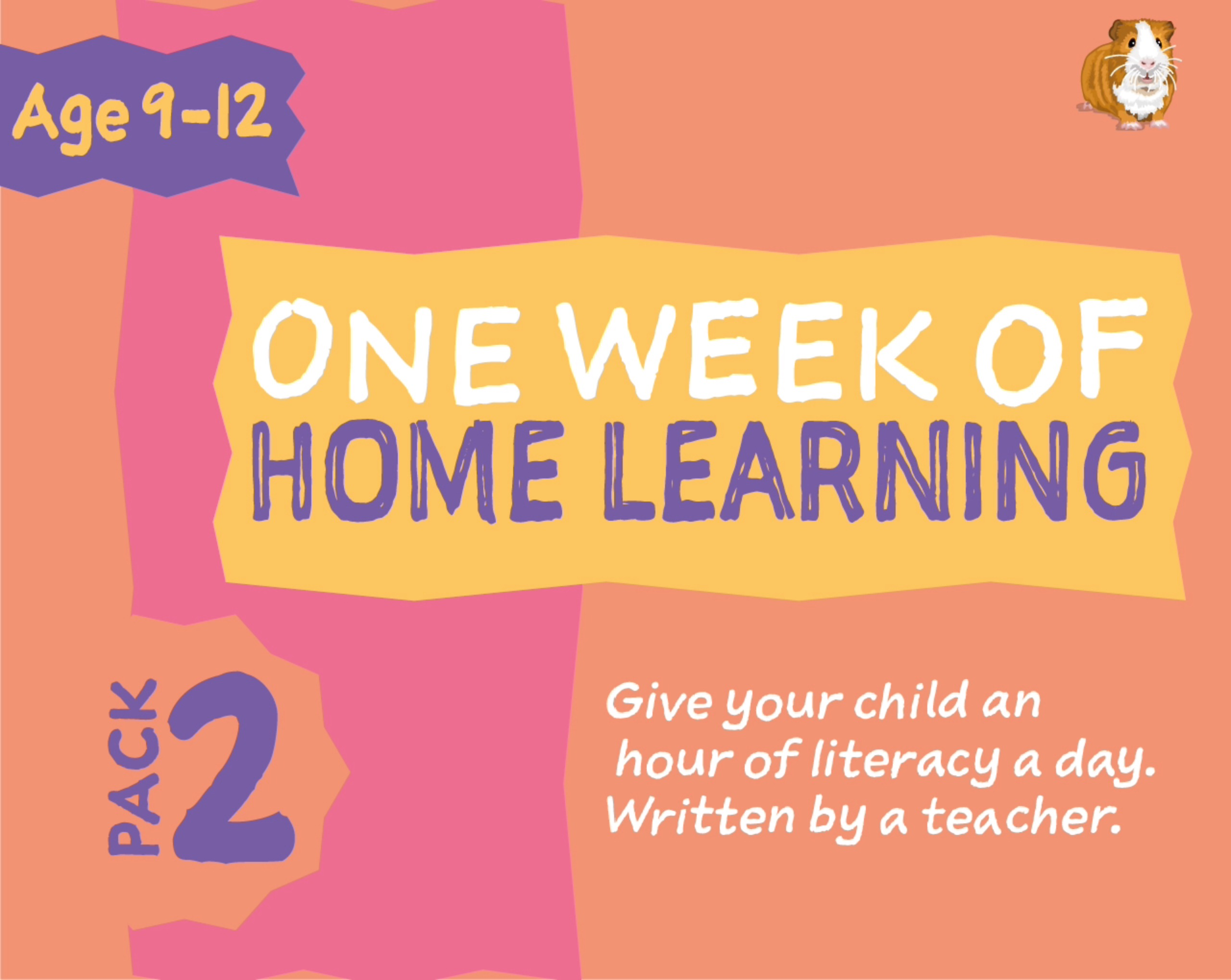 1 WEEK Literacy Distance Learning: Pack TWO (age 9-12 years) Grades 4-6