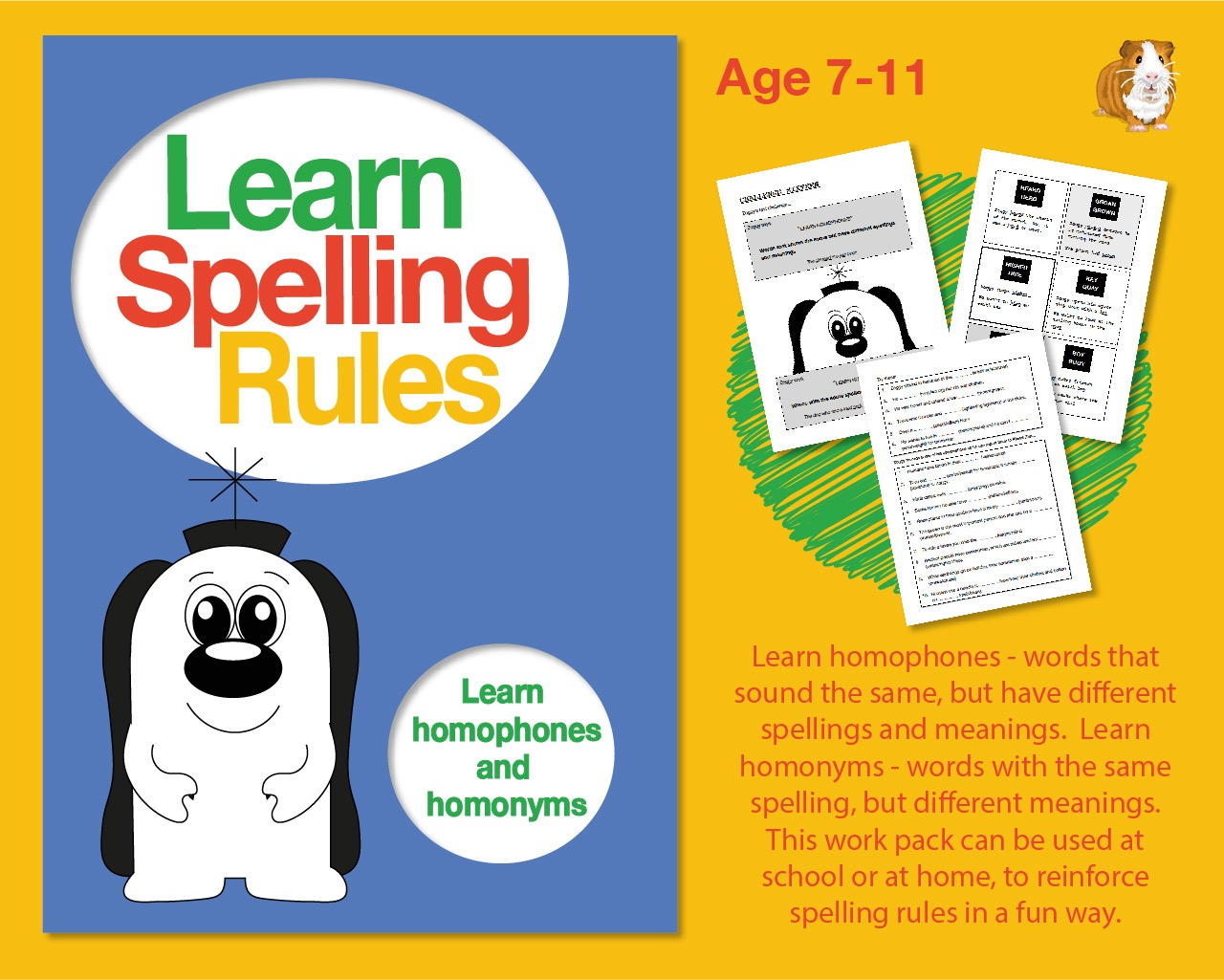 Learn Spelling Rules: Learn Homophones And Homonyms (7-11 years)