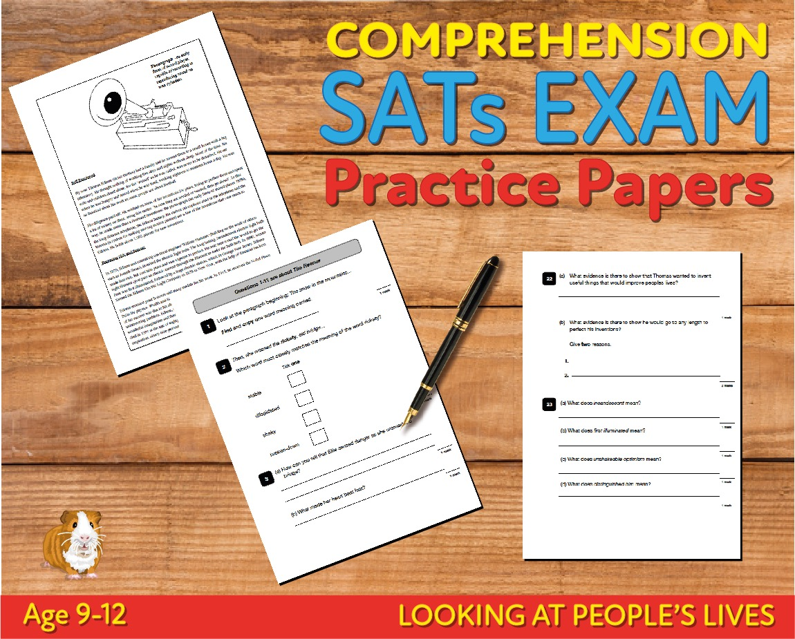 SATS Comprehension Tests (Looking At People's Lives) 9-12 years Digital Download