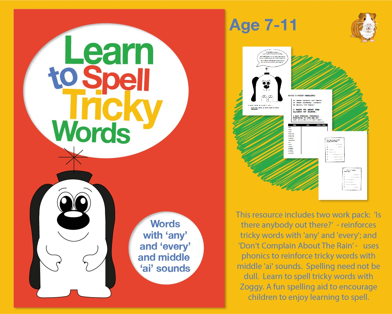 Spell Tricky Words with 'any' and 'every' And Middle 'ai' Sounds (7-11 years)