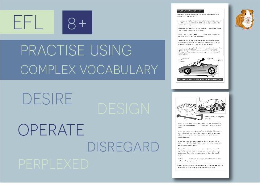Practise Using Complex Vocabulary: Zoggy Drives A Car (8+)