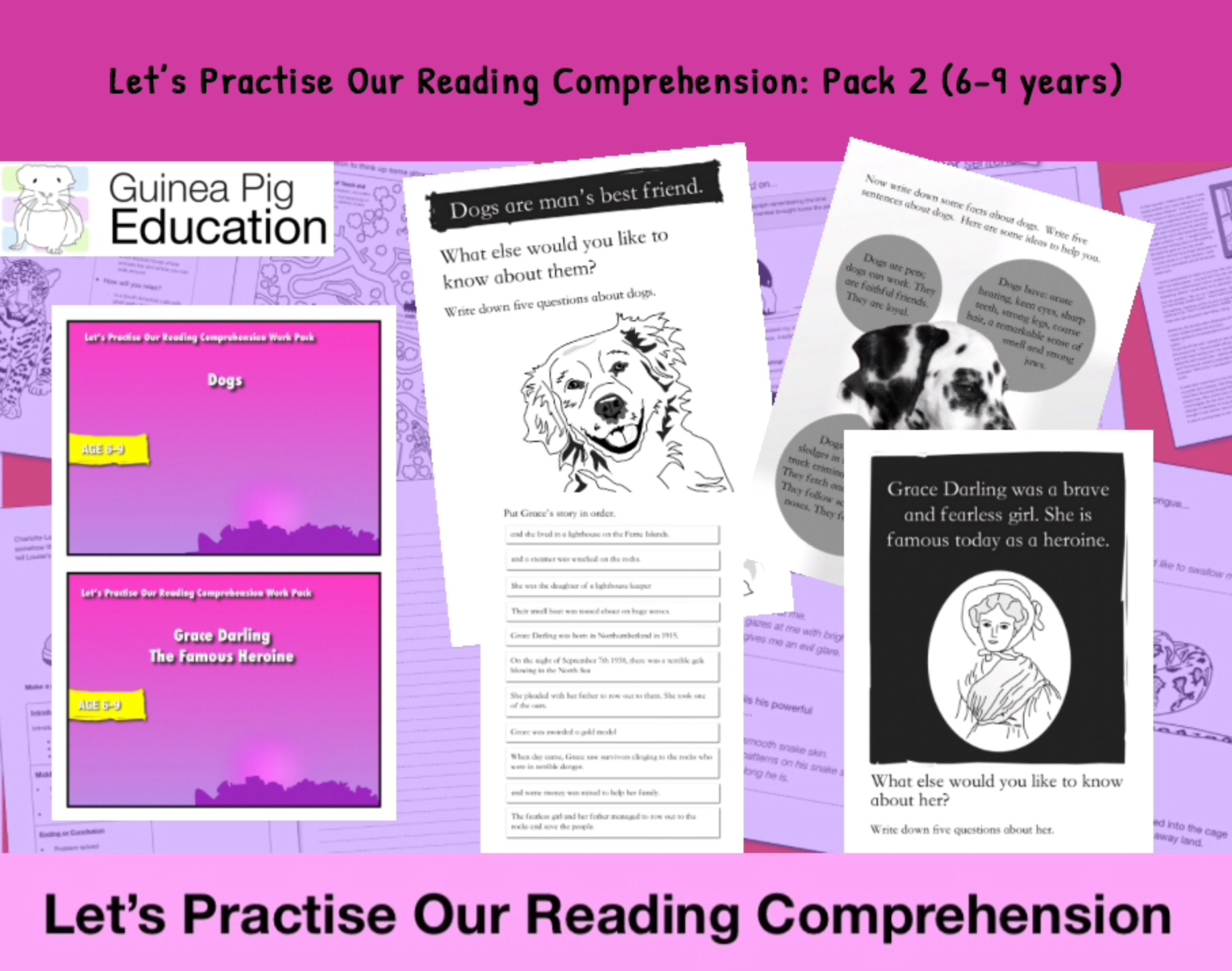 Let's Practise Our Reading Comprehension: Pack 2 (6-9 years)