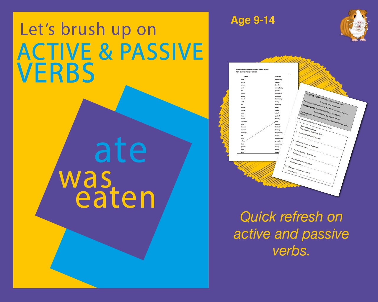 Using Active And Passive Verbs (9-14 years)