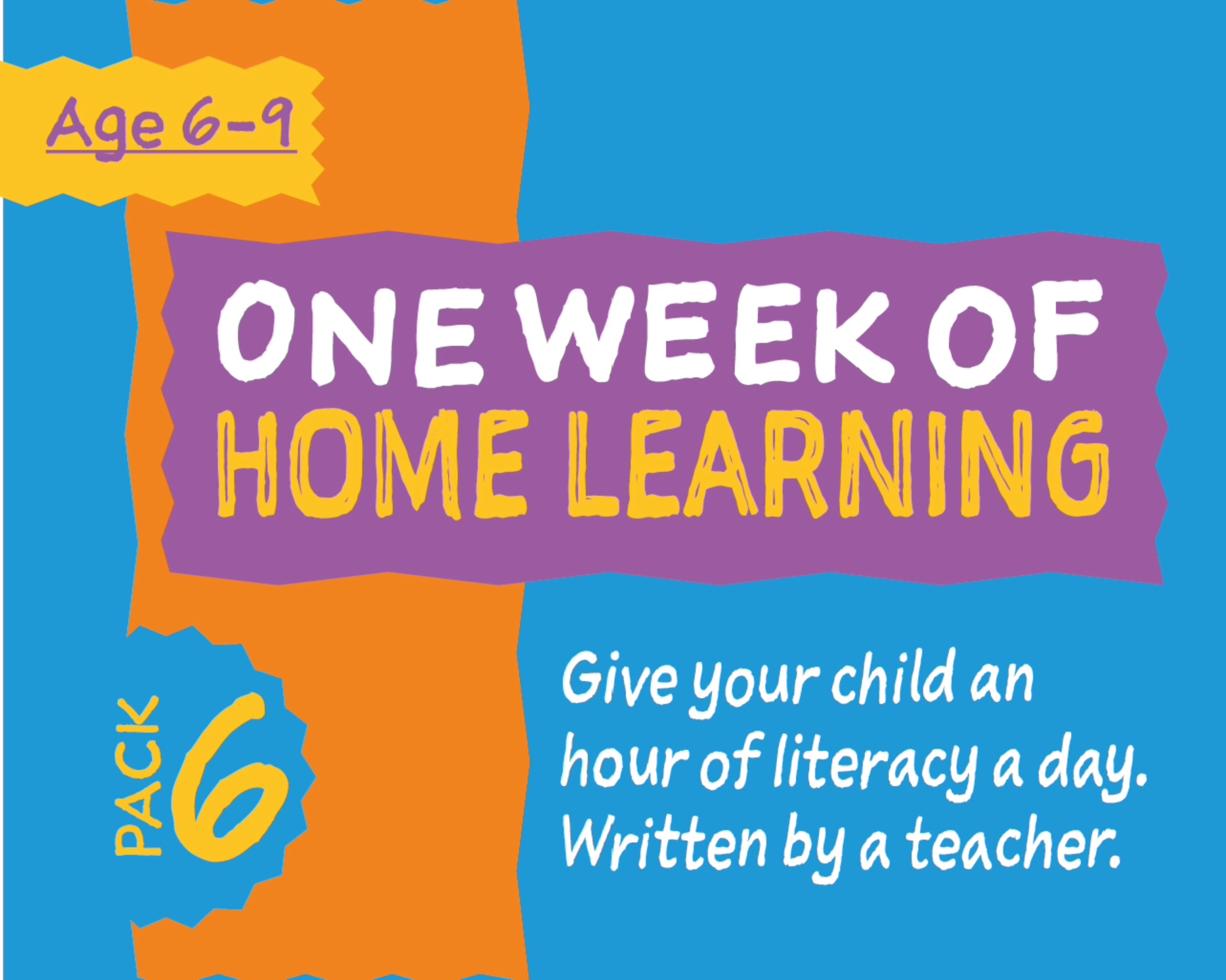 1 Week Literacy Distance Learning: PACK SIX (age 6-9) Grades 1-3