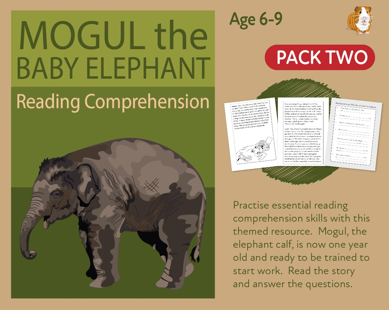 Let's Practise Our Reading Comprehension: Mogul The Baby Elephant: Part 2 (6-9 years)
