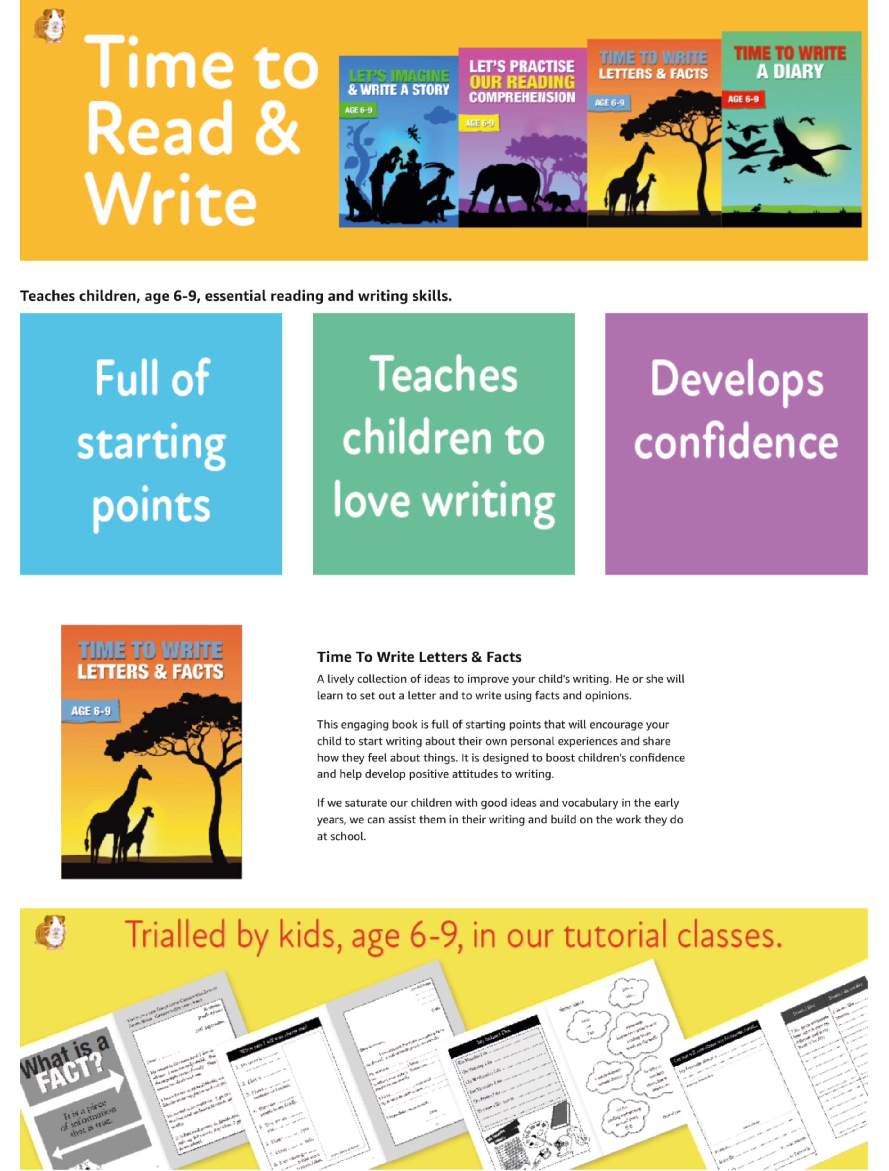 Time To Read & Write series: Books 1-4  (6-9 years) Print Version
