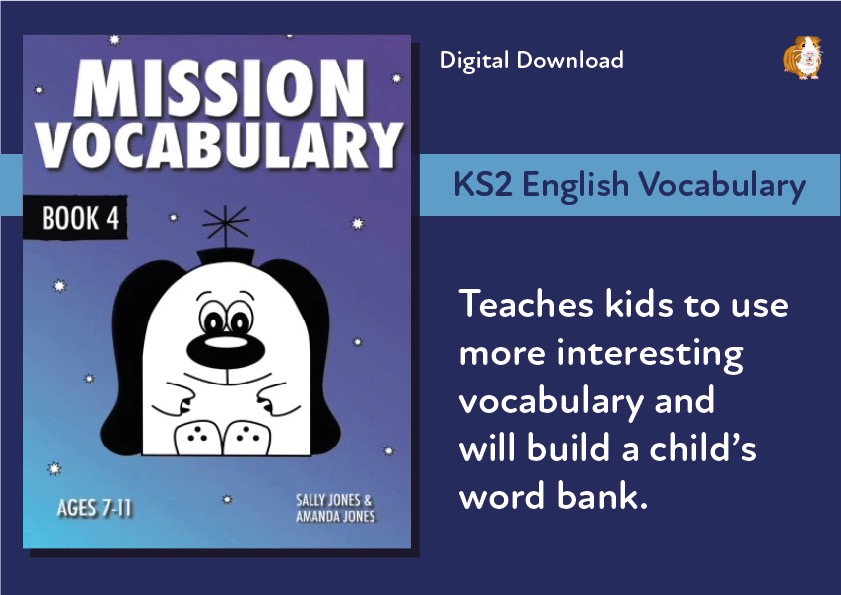 Mission Vocabulary (7-11 years) Digital Download