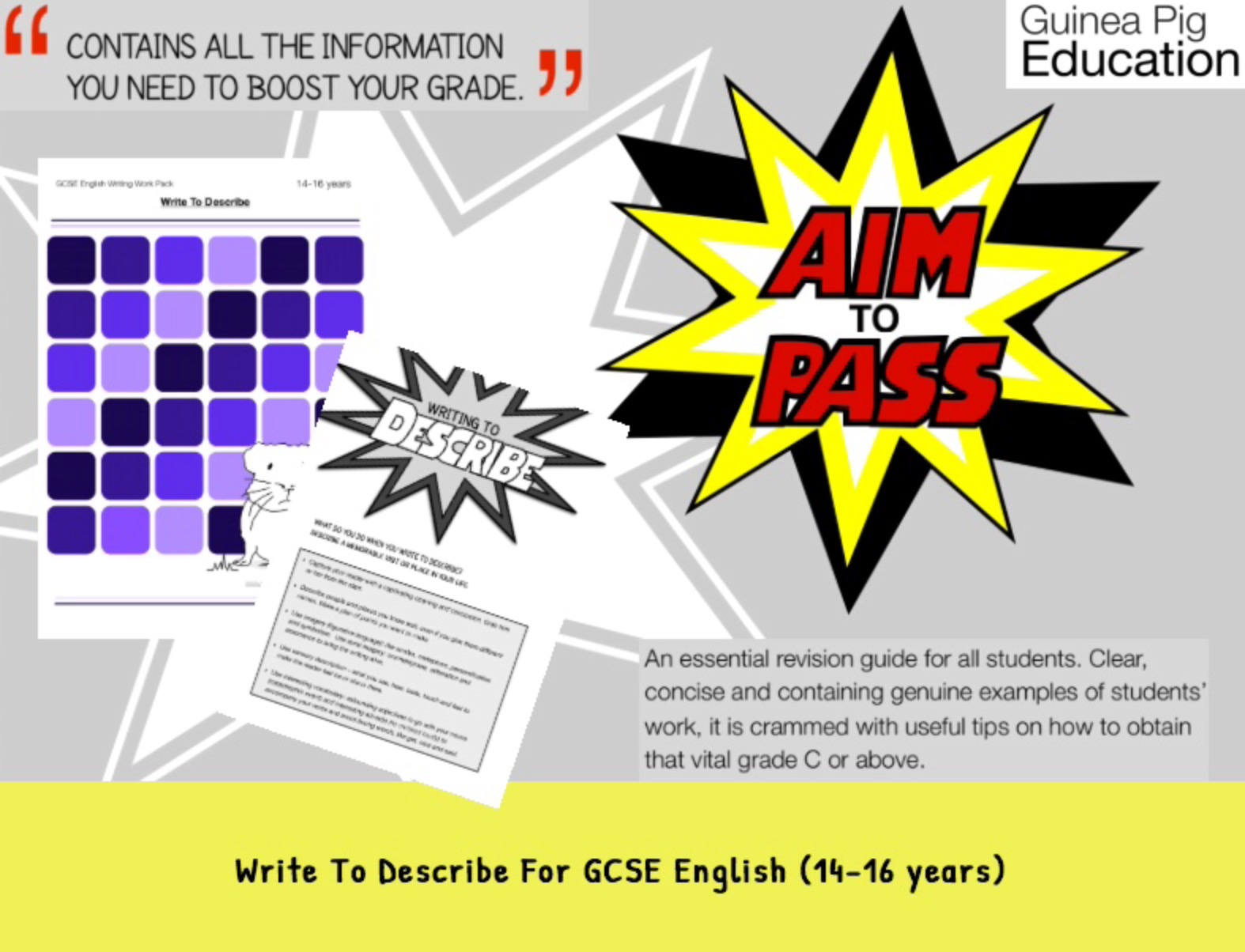 Write To Describe (Improve Your Grades At GCSE) (14-16 years)