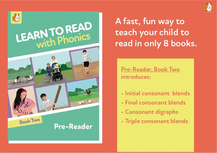 2. Learn To Read With Phonics | Pre Reader Book 2 | Digital Download