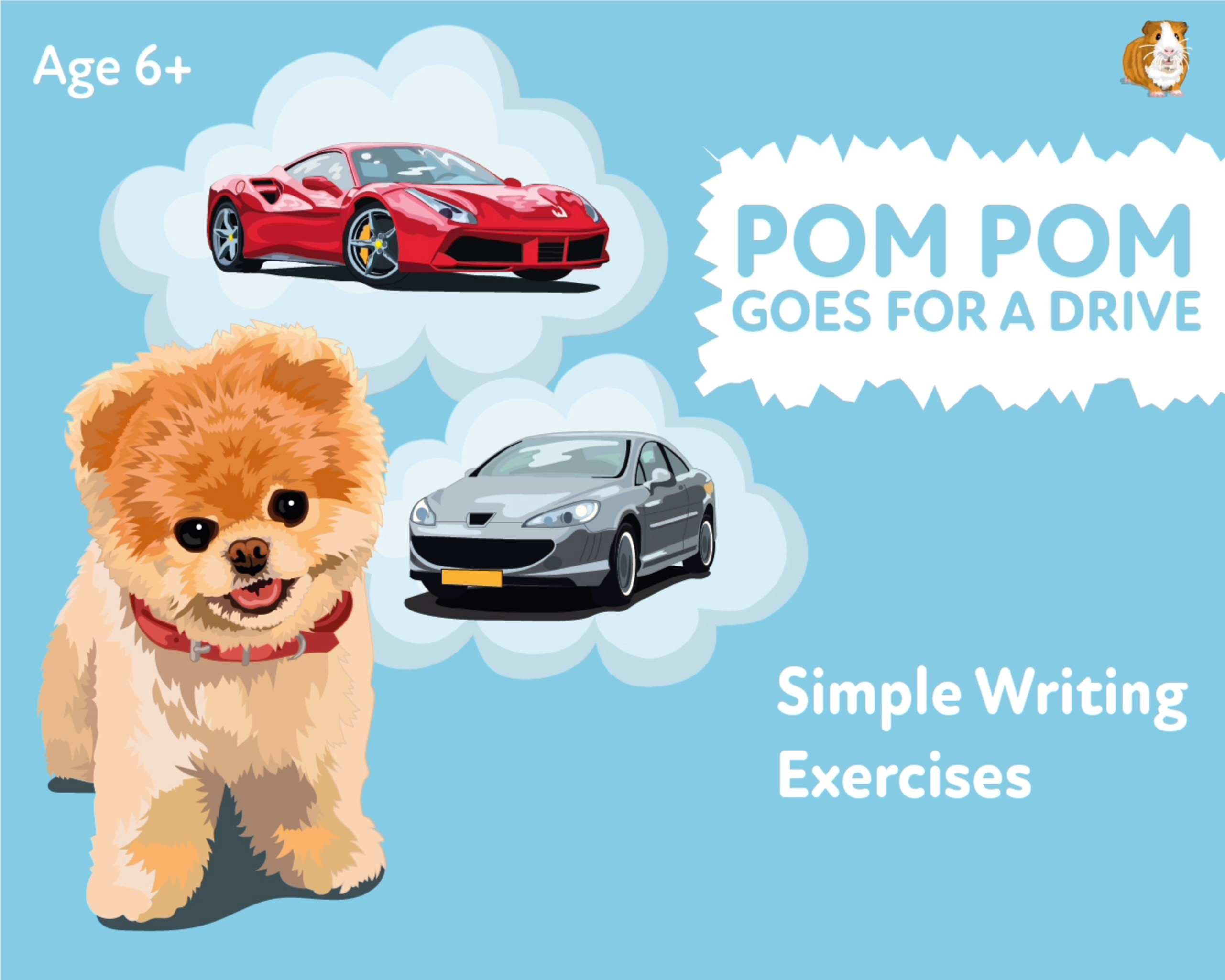 'Pom Pom Goes For A Drive' A Fun Writing And Drawing Activity (6 years +)