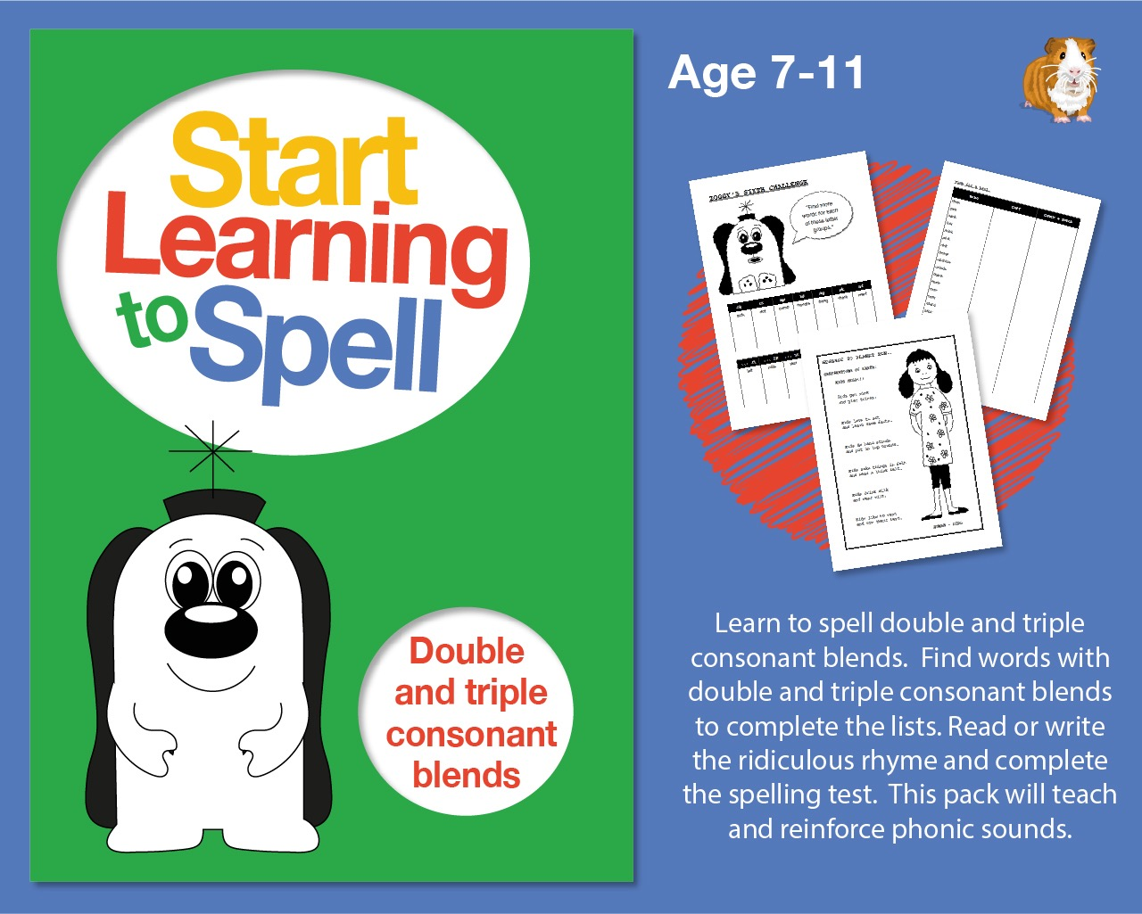 Learn To Spell Double And Triple Consonant Blends: Learn To Spell With Phonics (7-11)