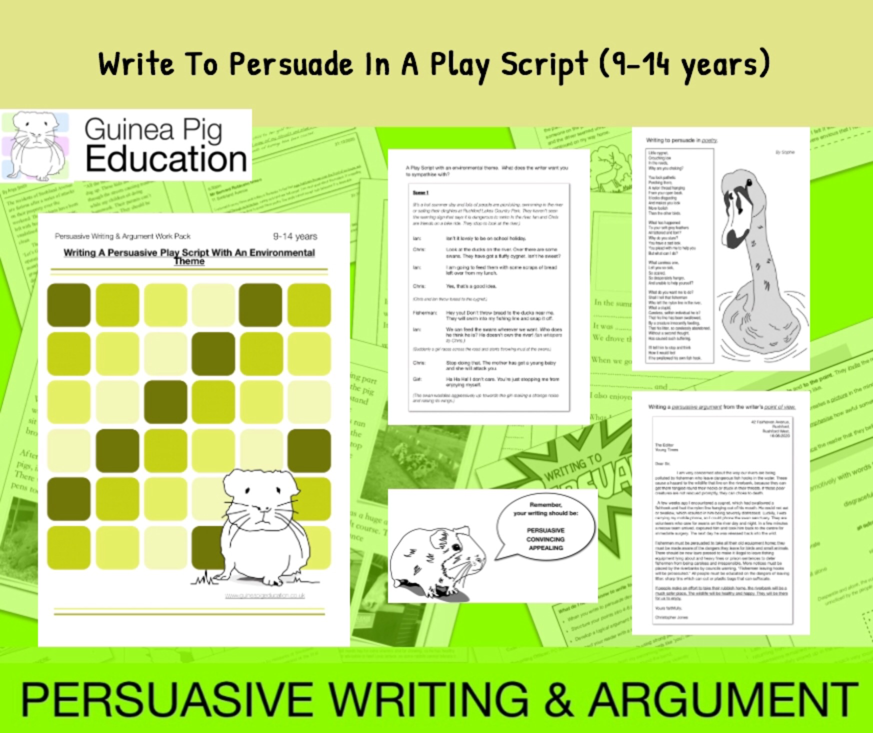 How To Write To Persuade In A Play Script (with an environmental theme)  (9-14 years)