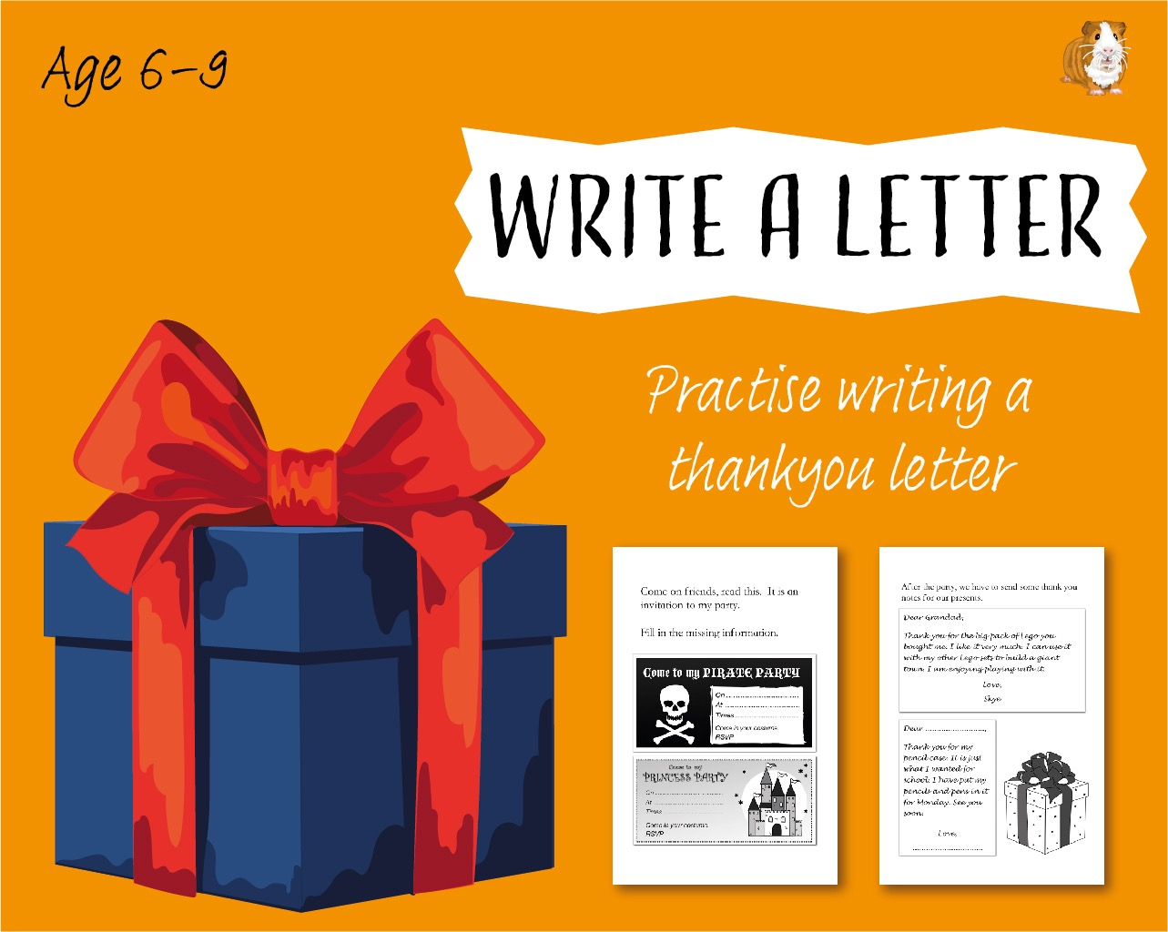 Write A Letter: Practise Writing A Thankyou Letter (6-9 years)