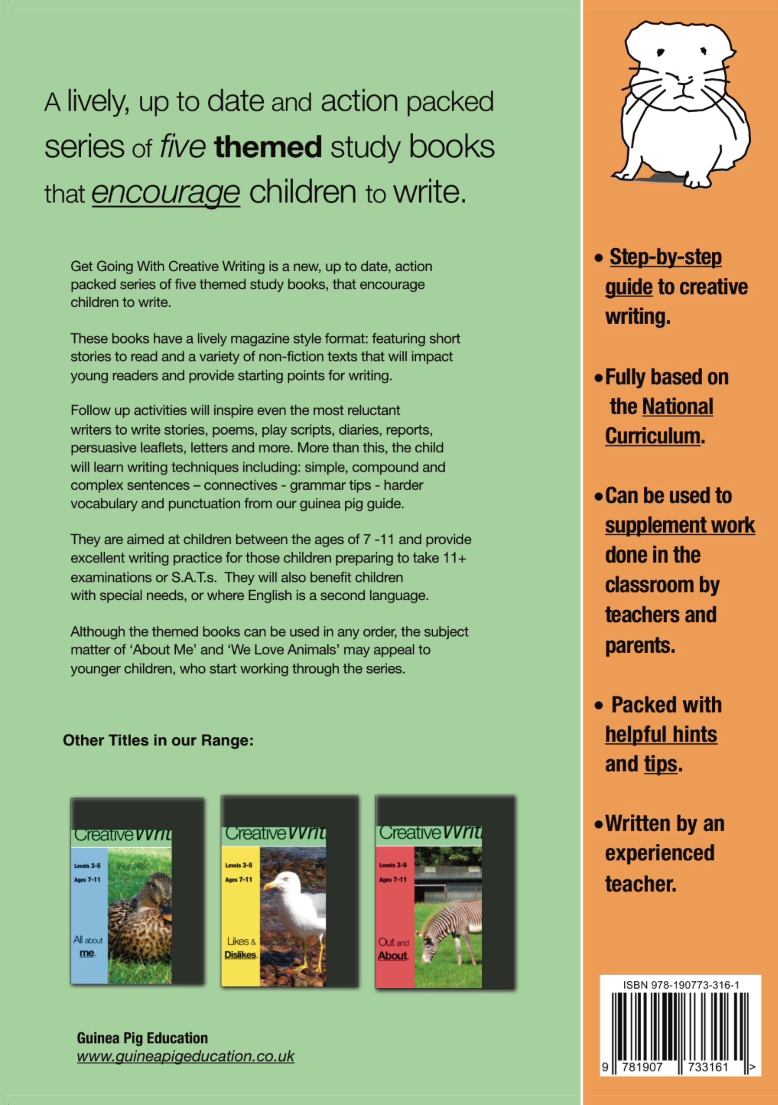 Get Going With Creative Writing (Complete Series books 1-5) (7-11) Digital Download