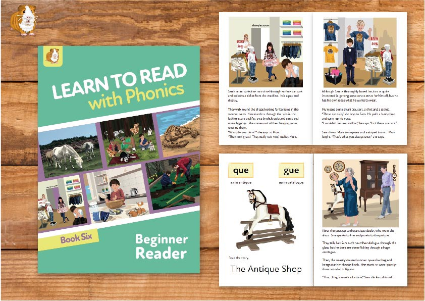 8. Learn to Read with Phonics | Beginner Reader Book 6 | Print Book