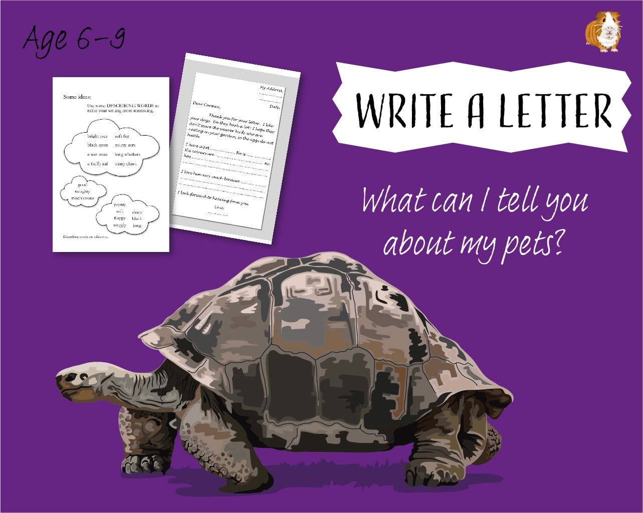 Write A Letter: What Can I Tell You About My Pets? (6-9 years)