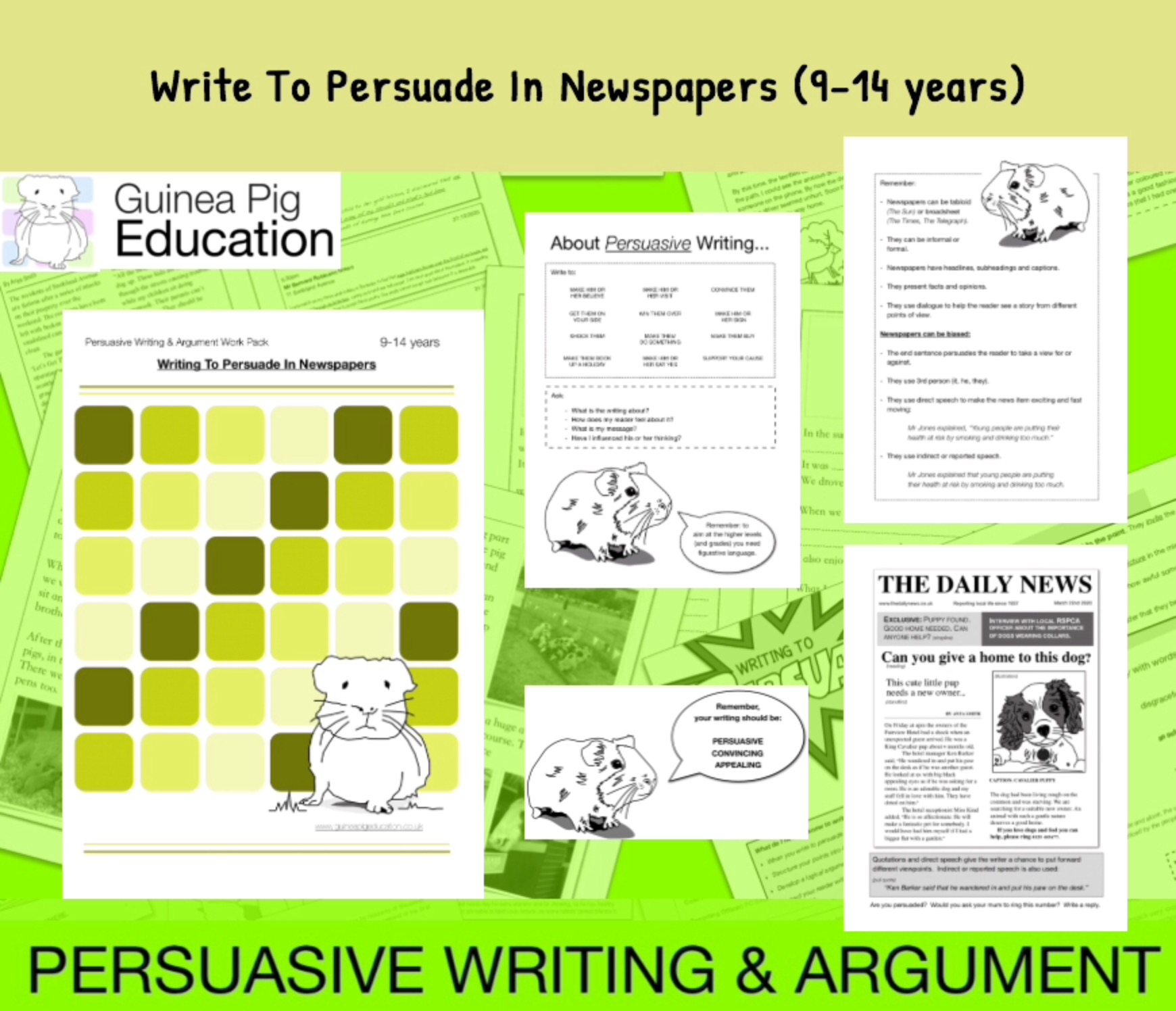 How To Write To Persuade In Newspaper Articles (9-14 years)