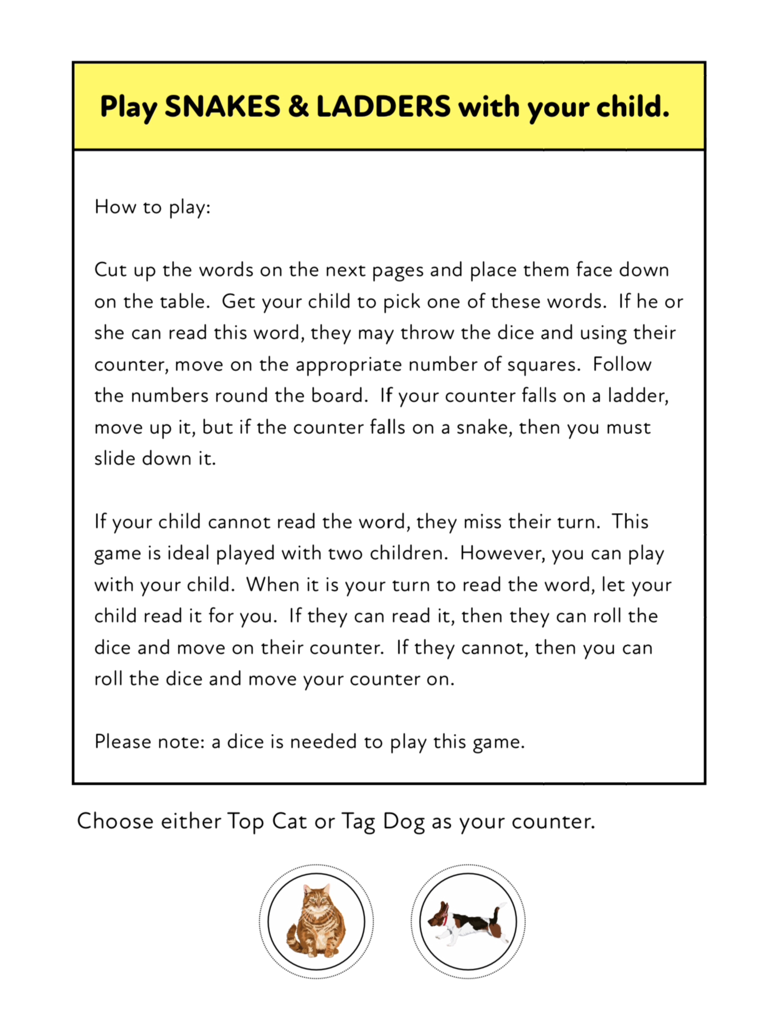 Play Snakes And Ladders: Fun Ways To Practise 3 Letter Phonic Words (3 +)
