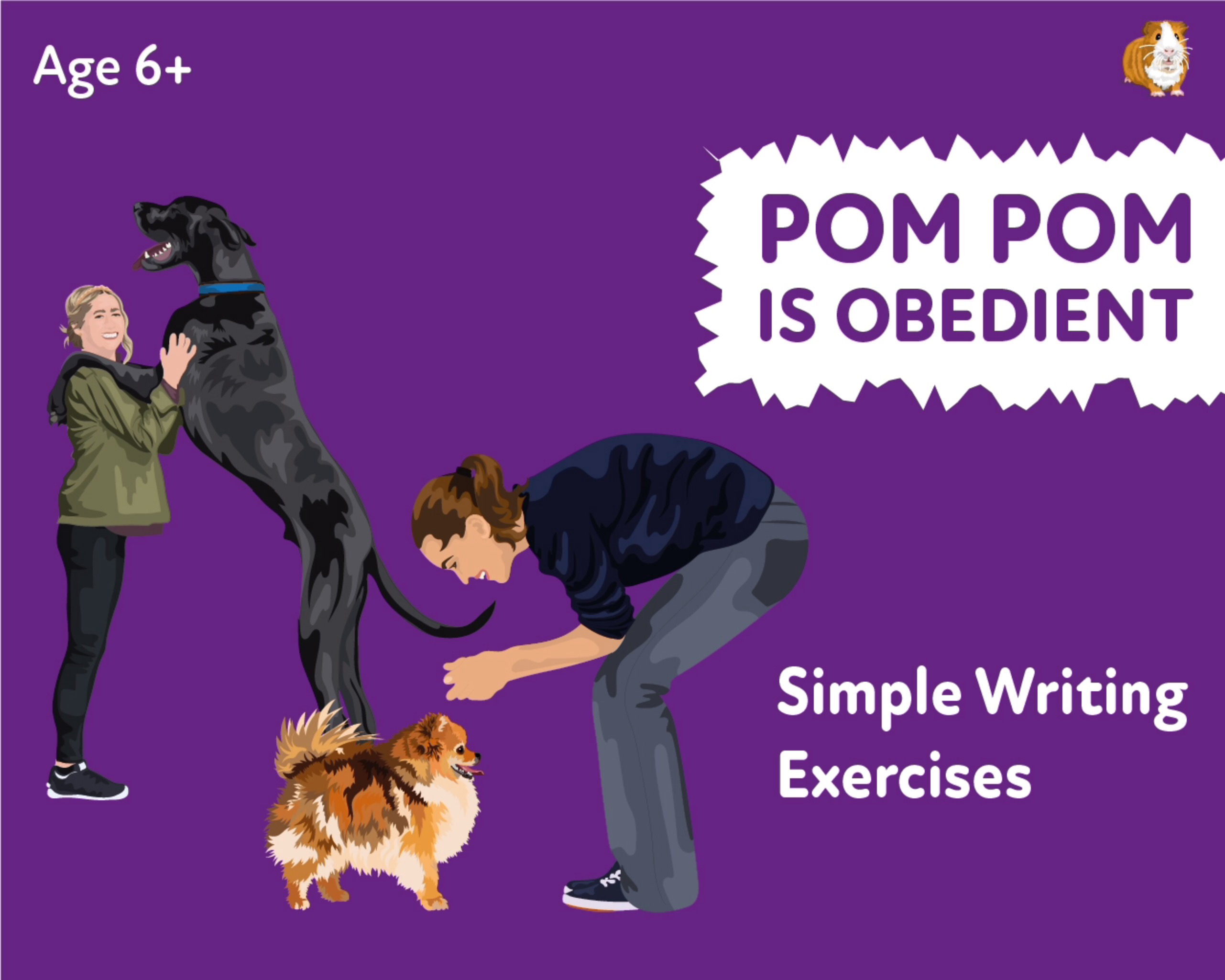 'Pom Pom Is Obedient' A Fun Writing And Drawing Activity (6 years +)