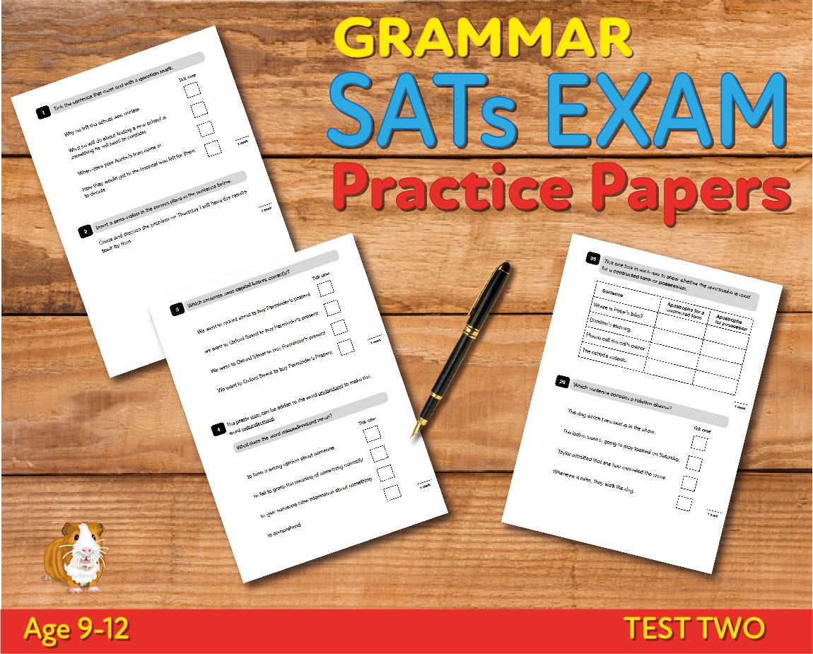 KS2 SATs Grammar, Punctuation & Vocabulary Practice Papers - Test 2 (Age 9-12)