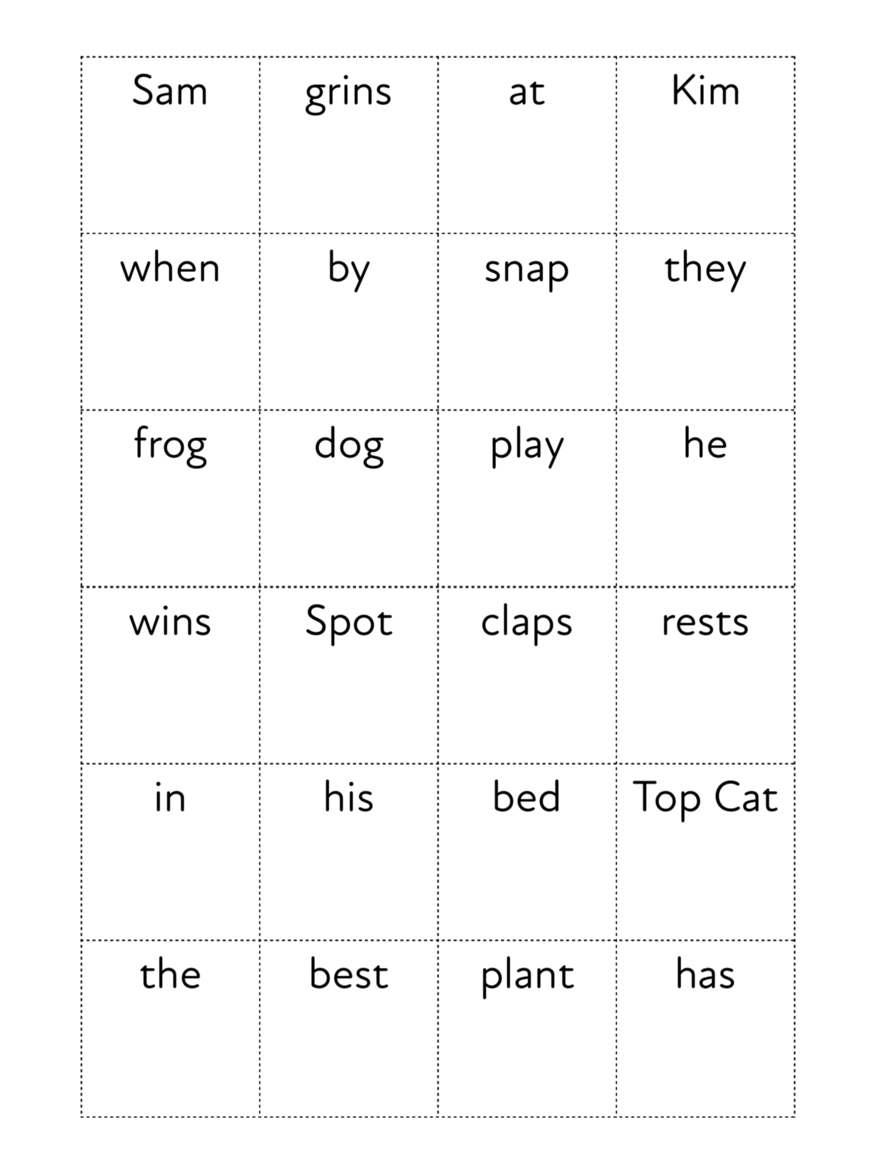 Use The Sentence Maker With Words That Include Initial & Final Consonant Blends (3 +)
