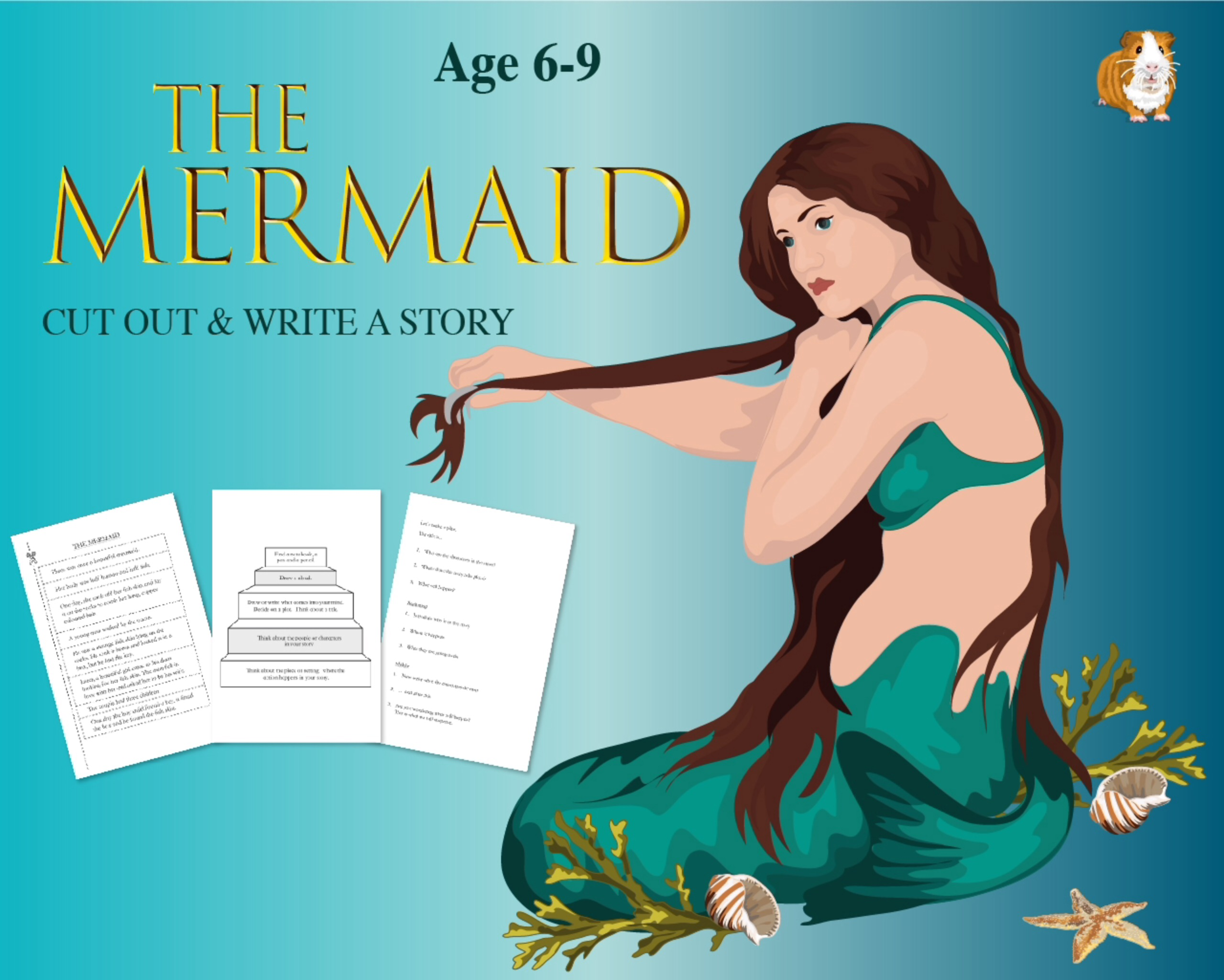 Cut Out And Write The Story Of 'The Mermaid' (6-9 years)
