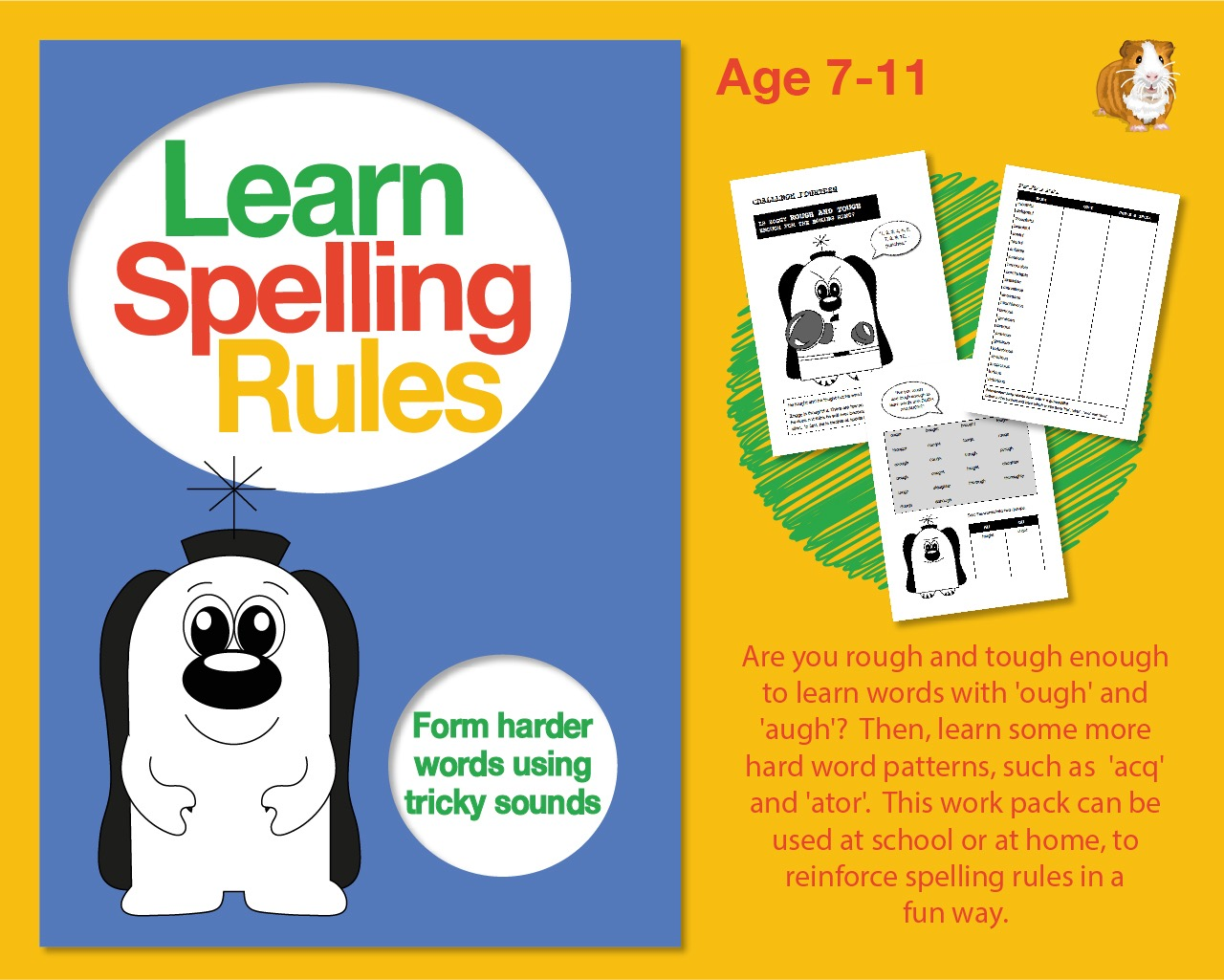 Learn Spelling Rules: Forming Harder Words Using Tricky Sounds (7-11 years)