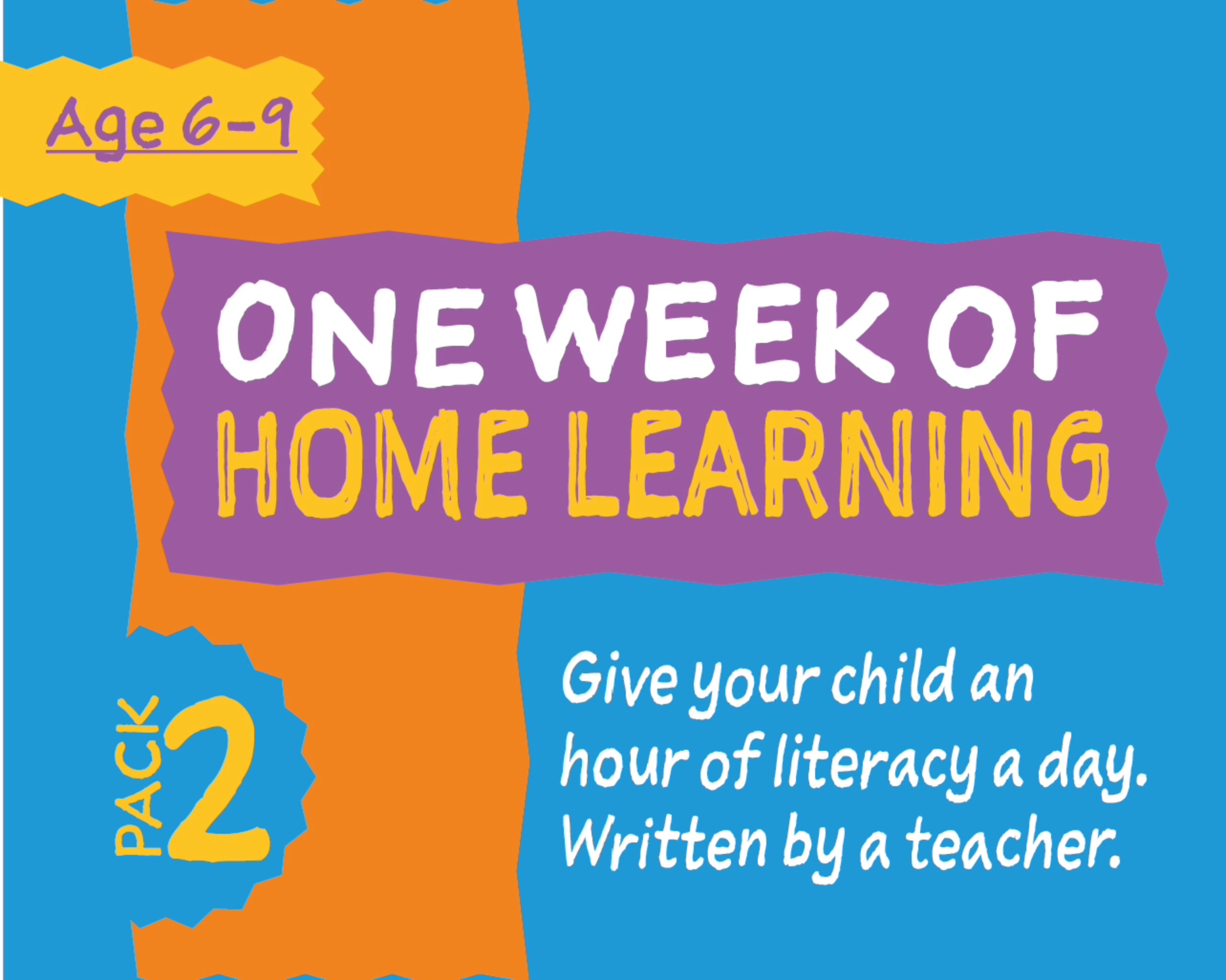 1 Week Literacy Distance Learning: PACK TWO (age 6-9) Grades 1-3