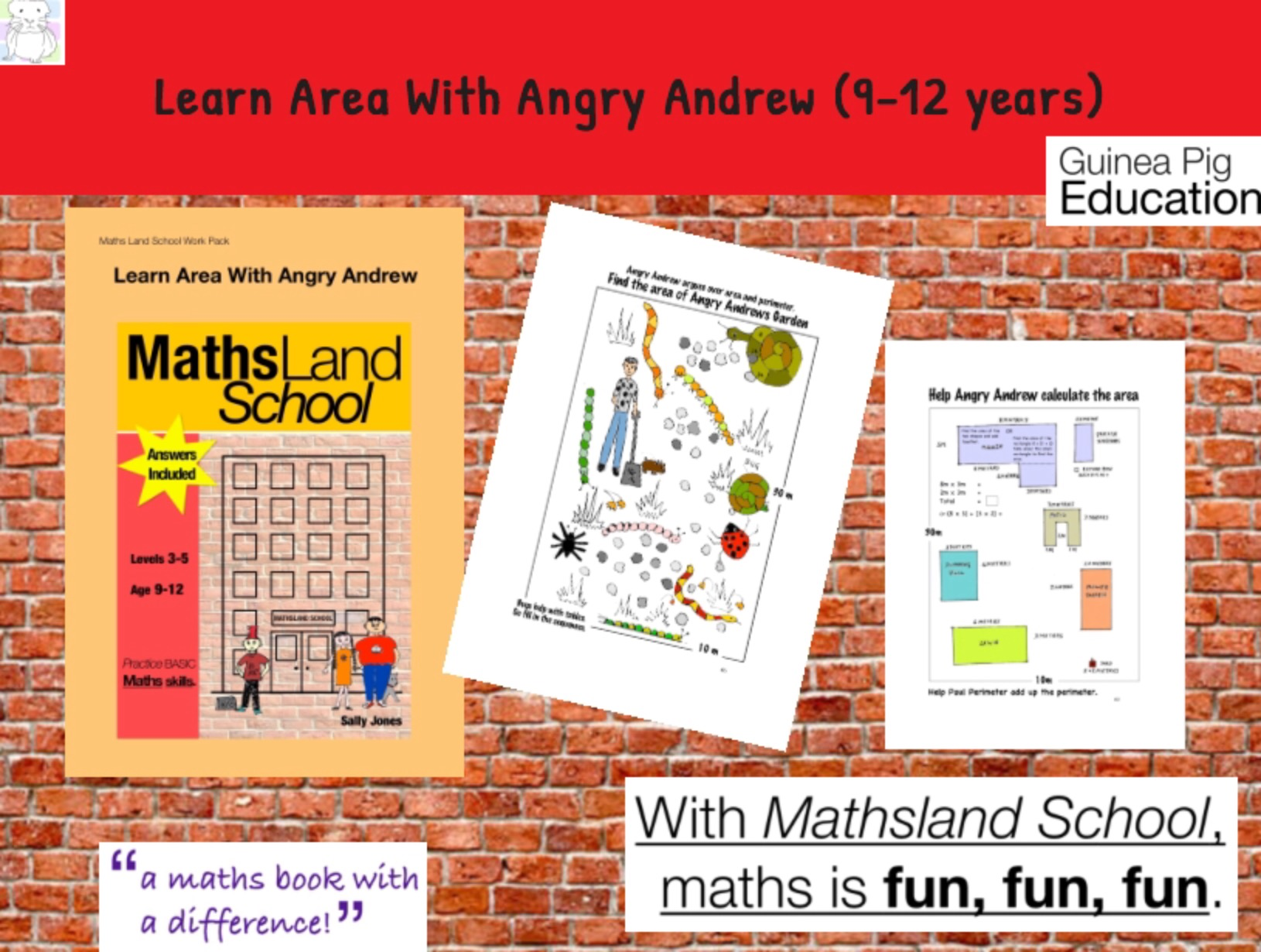 Learn Area With Angry Andrew Area (9-12 years)
